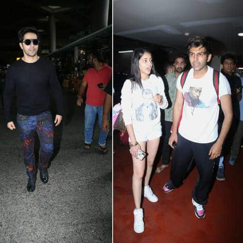 Spotted: Varun Dhawan Looks Cool At The Airport, Kartik Aaryan And Ananya Pandey Returns From Lucknow