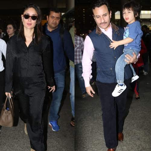 Spotted: Saif, Kareena And Taimur Snapped At The Airport; Janhvi Kapoor Turns Heads Outside Gym
