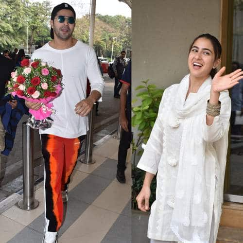 Spotted: Varun Dhawan, Nora Fatehi Turn Up Get Mobbed At The Airport, Sara Ali Khan Meets Anand L. Rai