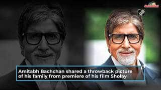 Amitabh Bachchan takes you back to the premiere of the iconic Sholay with Jaya Bachchan