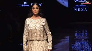 Mrunal Thakur turns showstopper for designer Alka Sharma