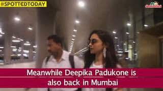 Spotted Today: Deepika Is Back, Karan Leaves Town