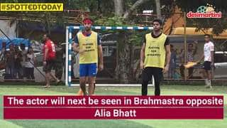 Spotted Today: Ranbir Plays Soccer, Rajkummar Rao Promotes Judgementall Hai Kya