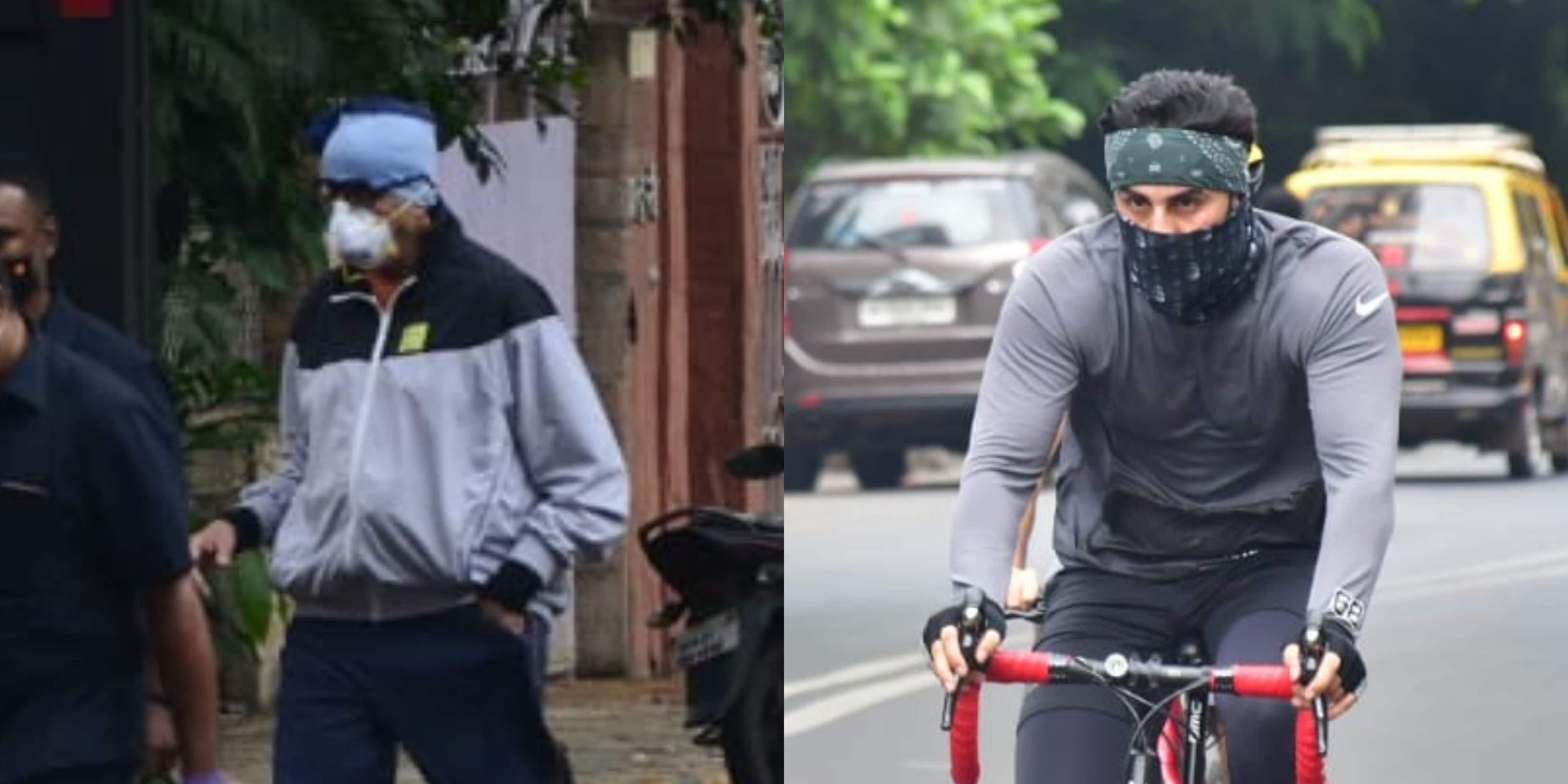Spotted: Amitabh Bachchan Walks To The Office On His Birthday; Ranbir Kapoor Takes His Bicycle For A Spin