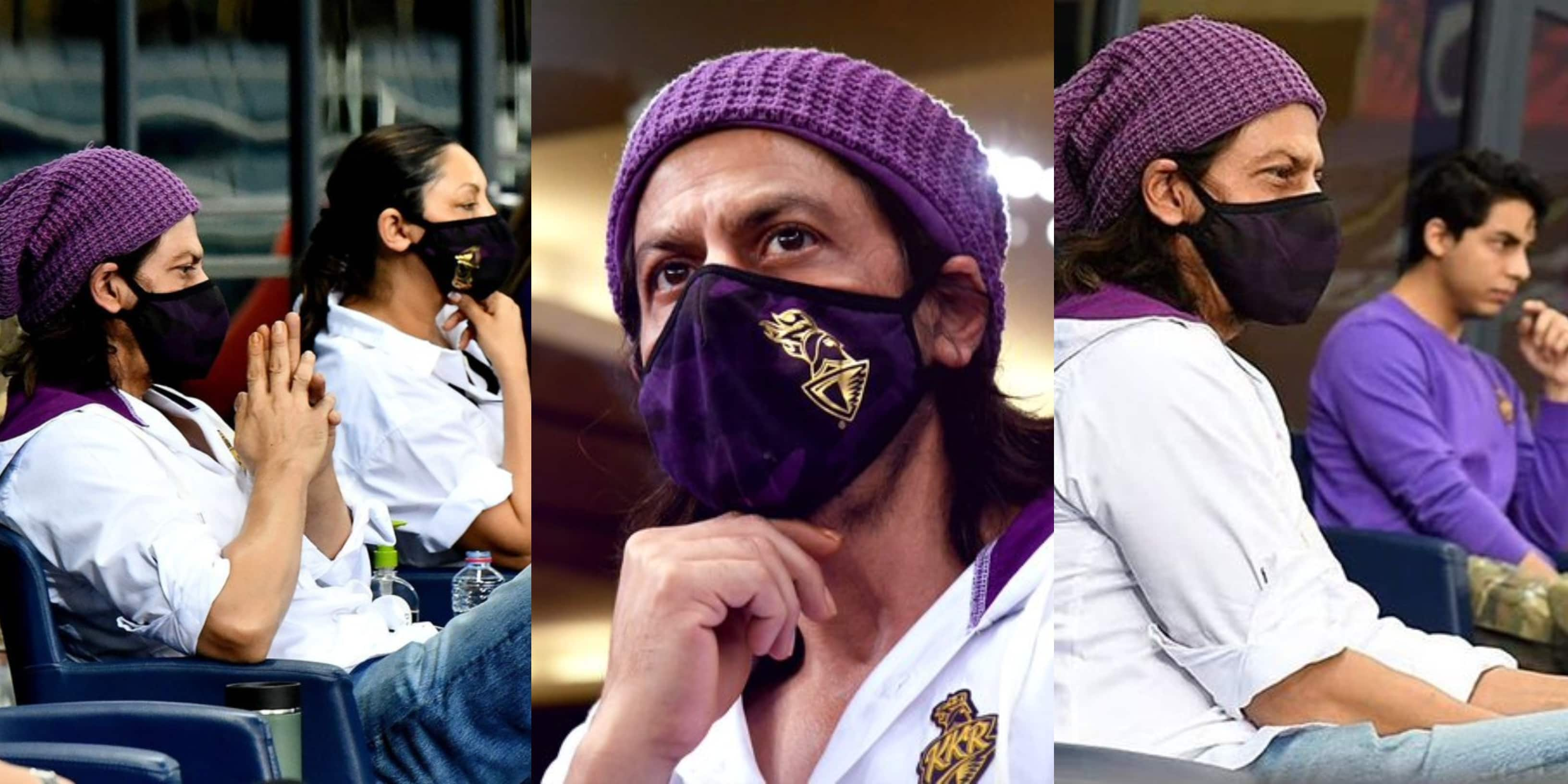 Shah Rukh Khan Supports KKR From The Stands In Dubai With Wife Gauri And Son Aryan, See Pictures...