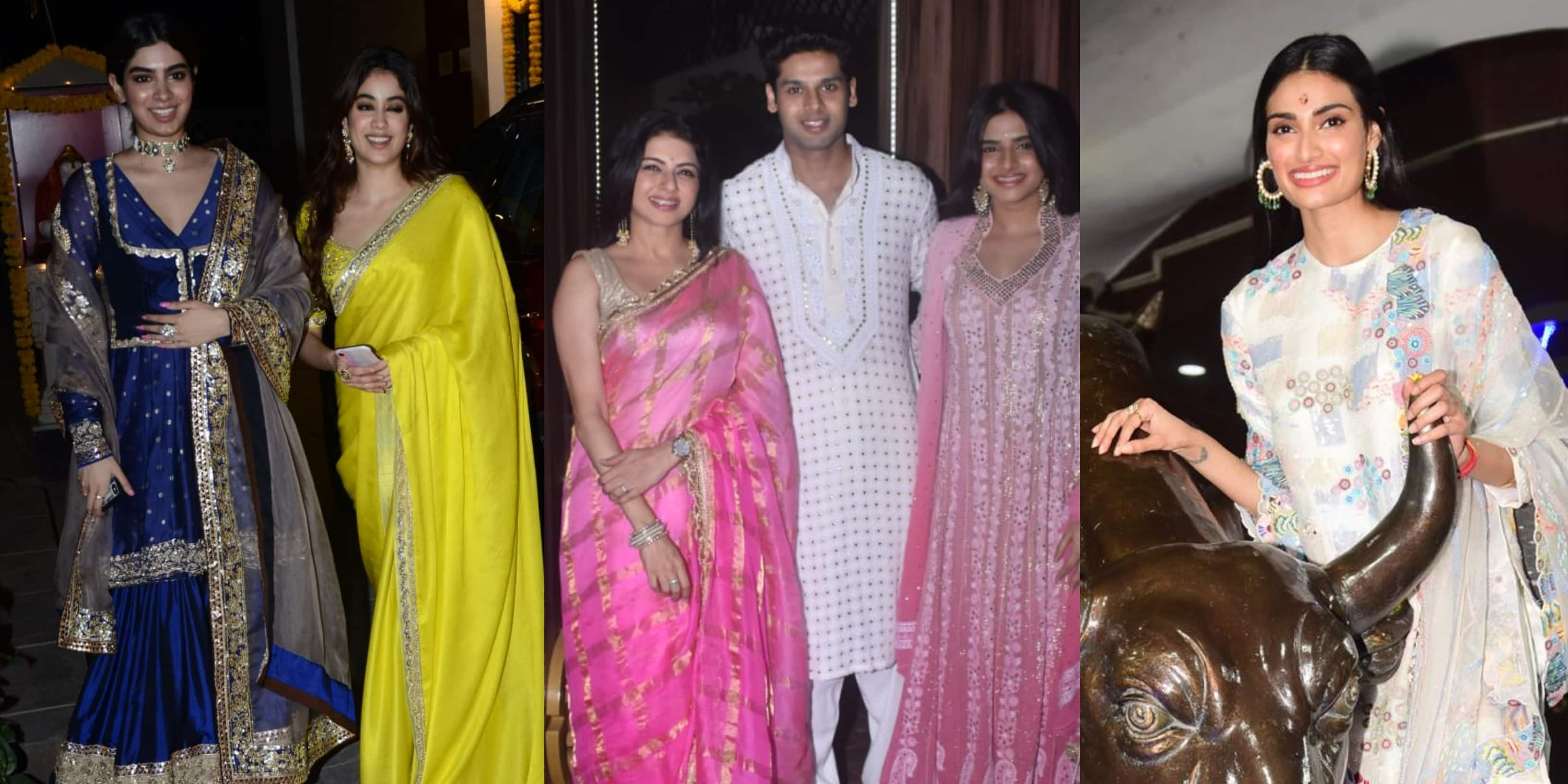 Janhvi And Khushi Kapoor, Abhimanyu Dassani And Other Celebs Turn The Bling On For Diwali; See Pics...