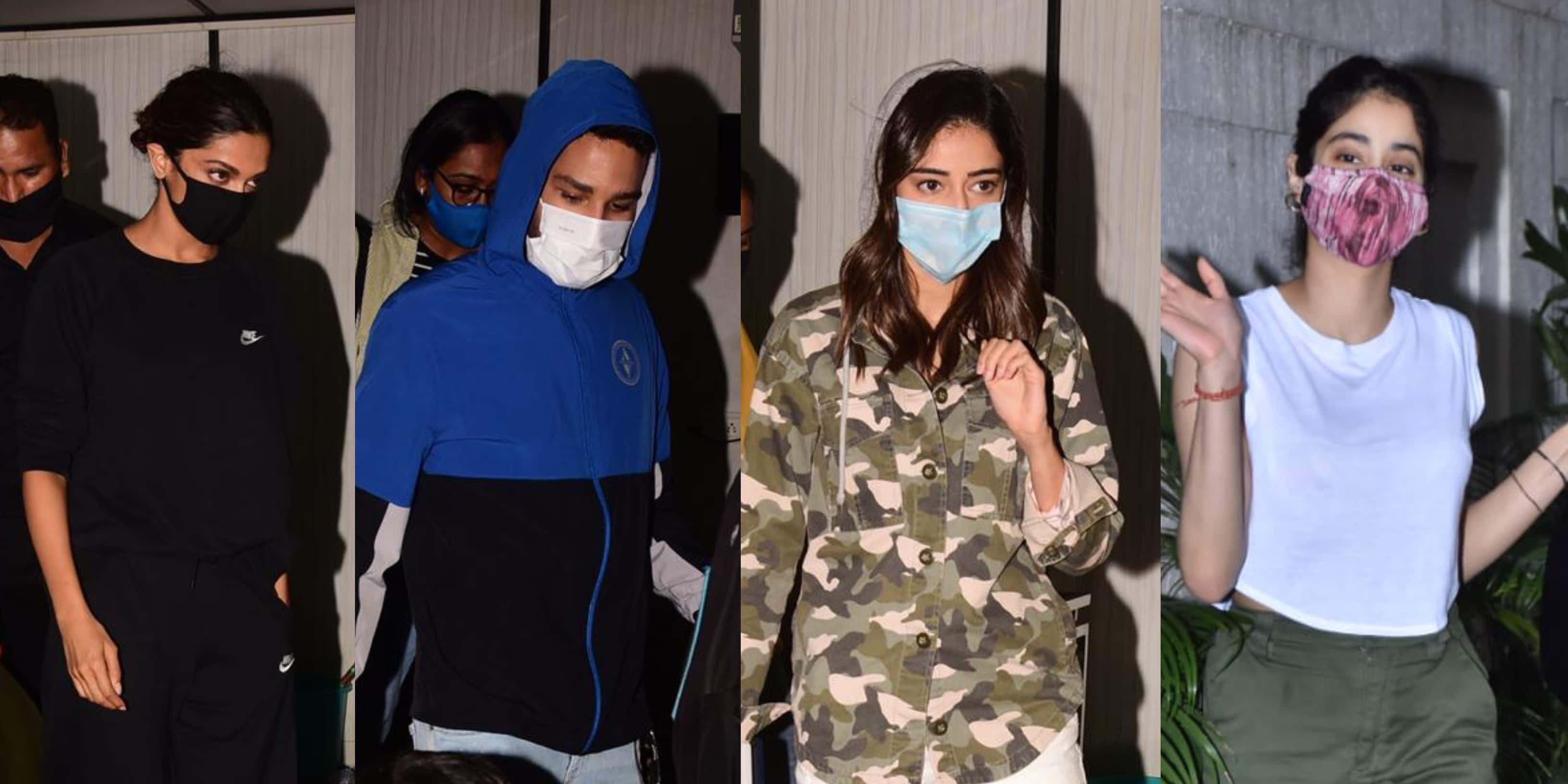 Spotted: Deepika, Siddhant, Ananya Travel To Alibag; Janhvi Hangs Out With Dad Boney Kapoor