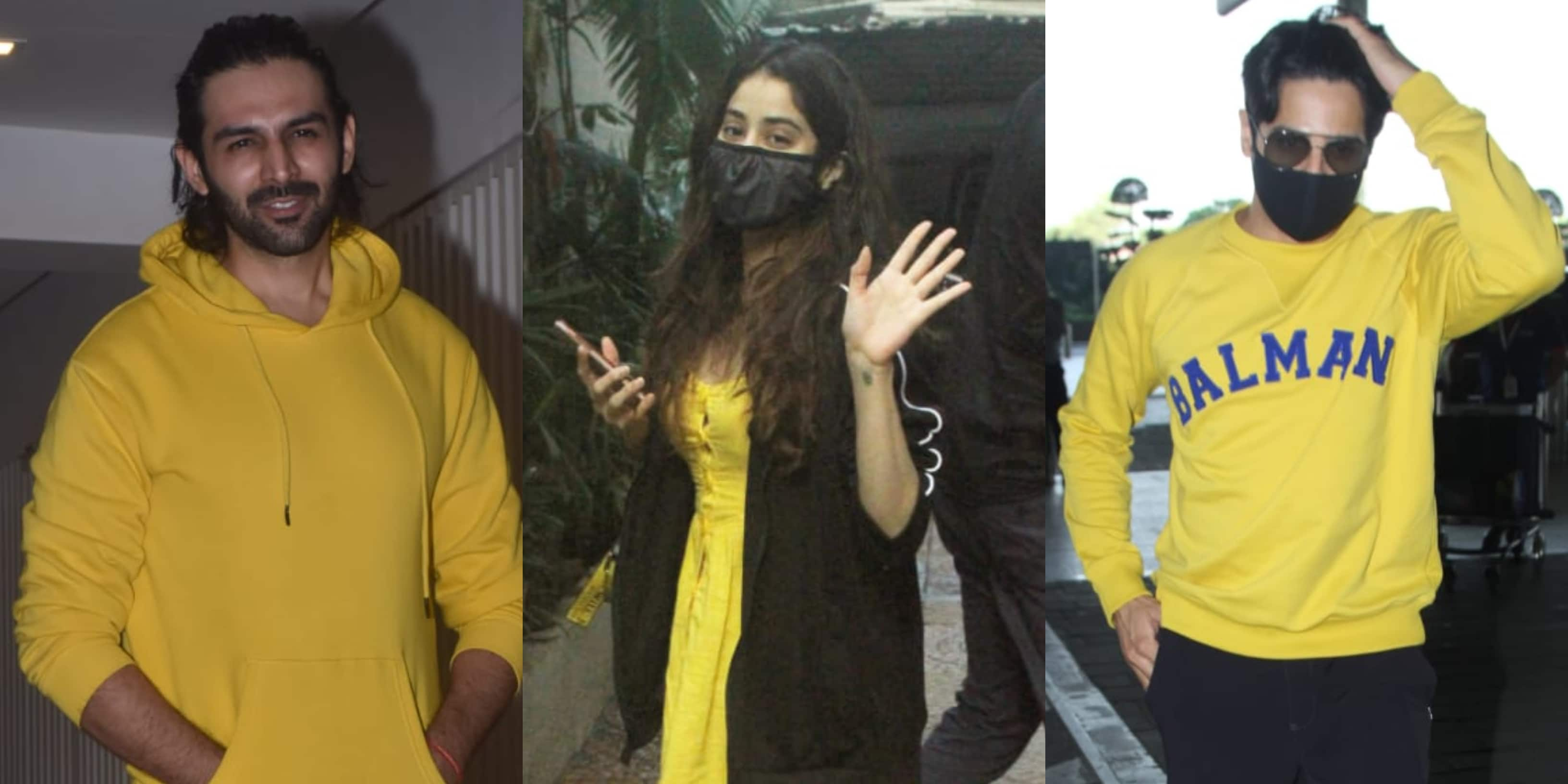 Spotted: Kartik Aaryan, Janhvi Kapoor And Sidharth Malhotra Rock Yellow Outfits Like Never Before
