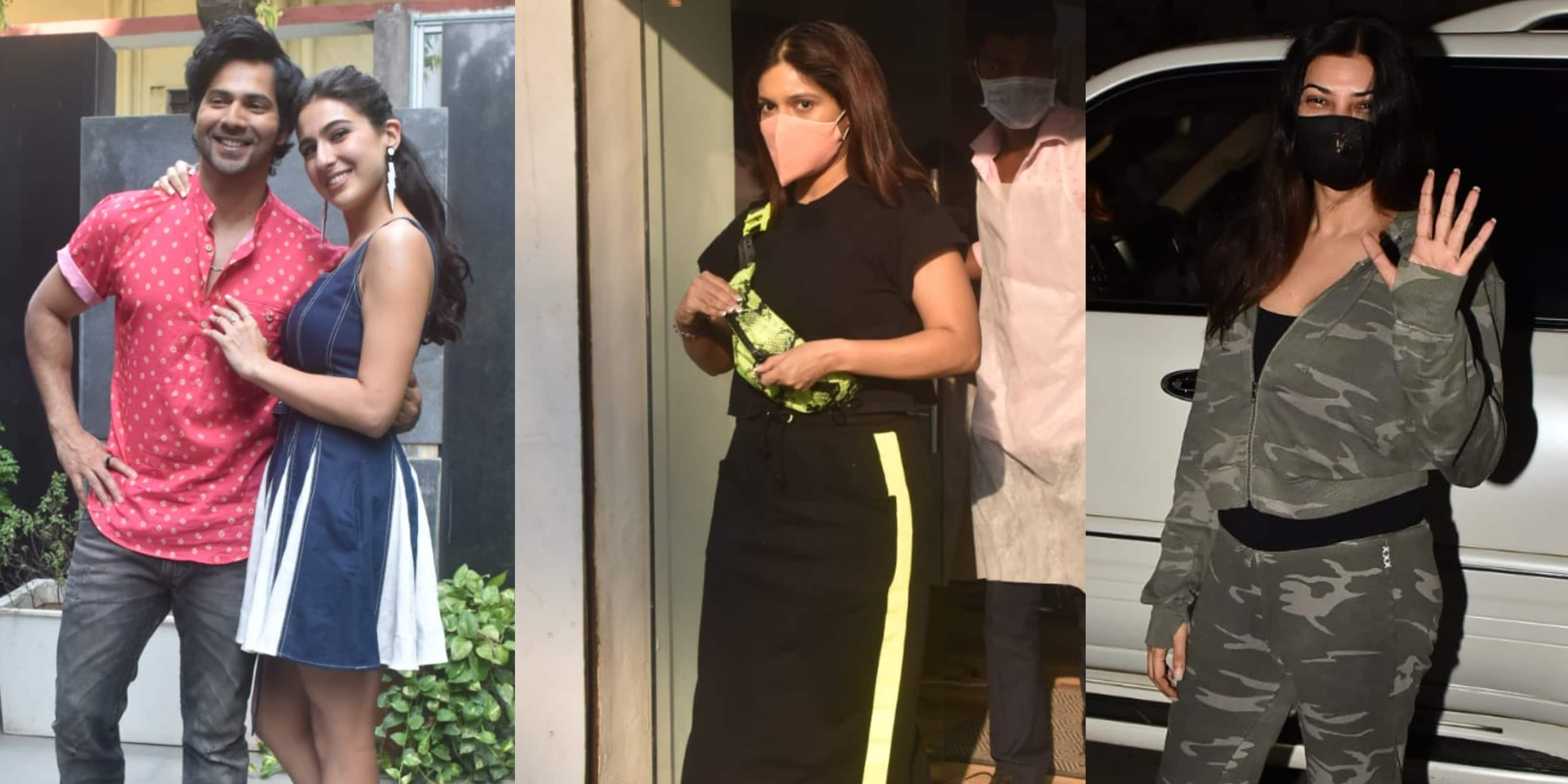 Spotted:  Varun-Sara Promote Coolie No. 1, Bhumi Pednekar Make Heads Turn