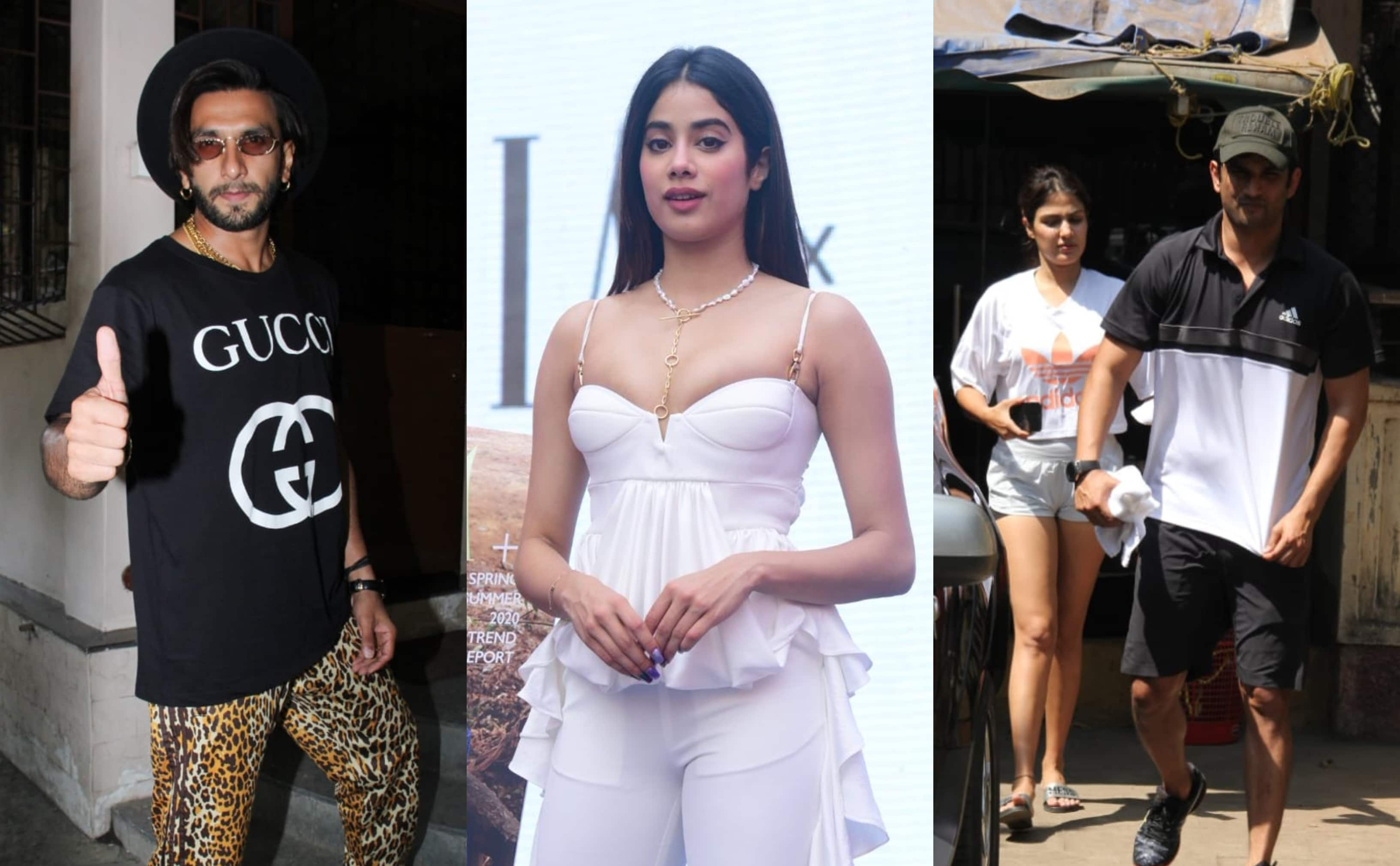 Spotted: Ranveer And Janhvi Channelize Their Inner Fashionista; Rhea, Sushant Workout Together