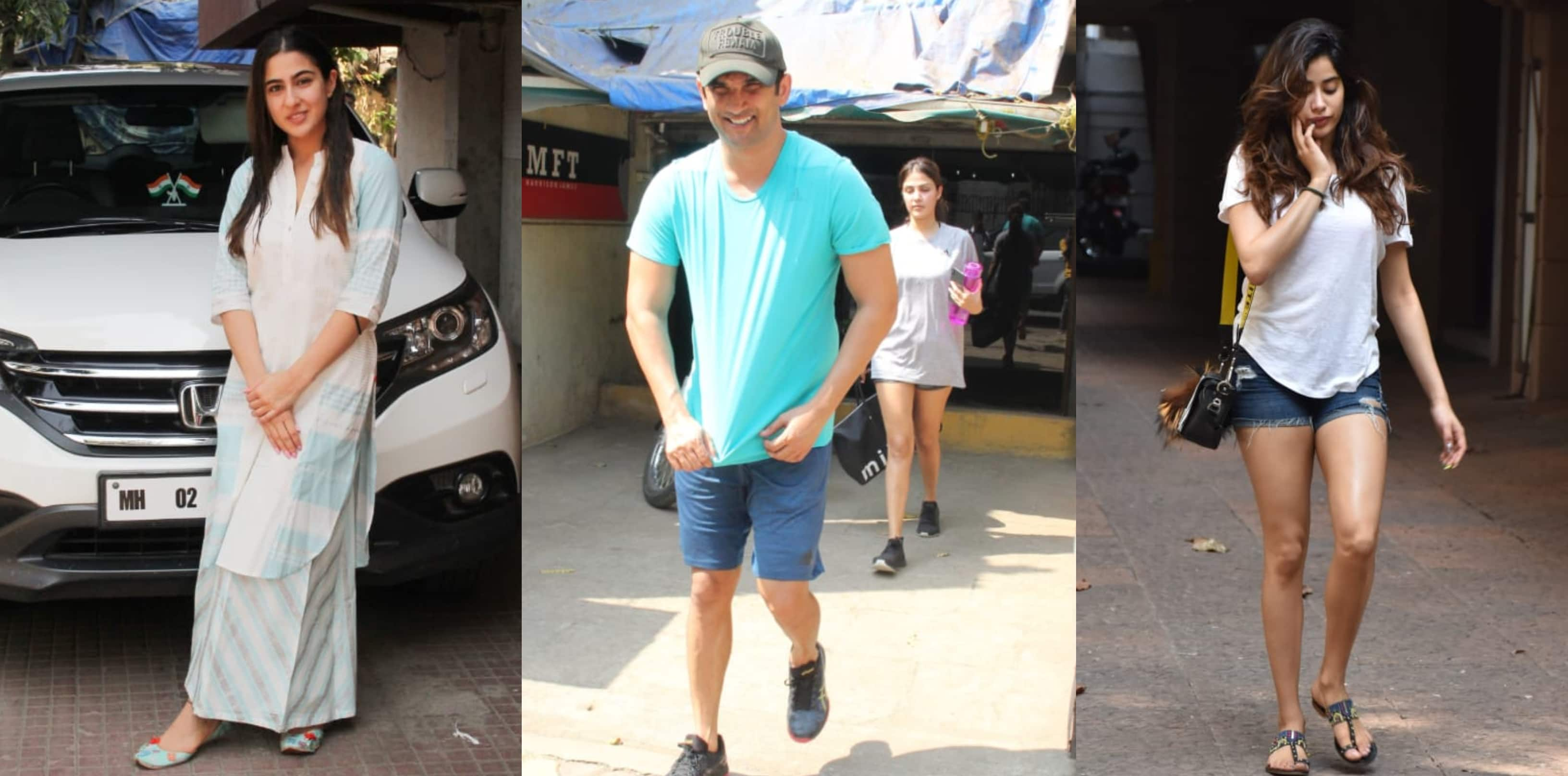 Spotted: Sushant -Rhea Work Out Together, Sara, Janhvi Also Sweat It Out In Style!