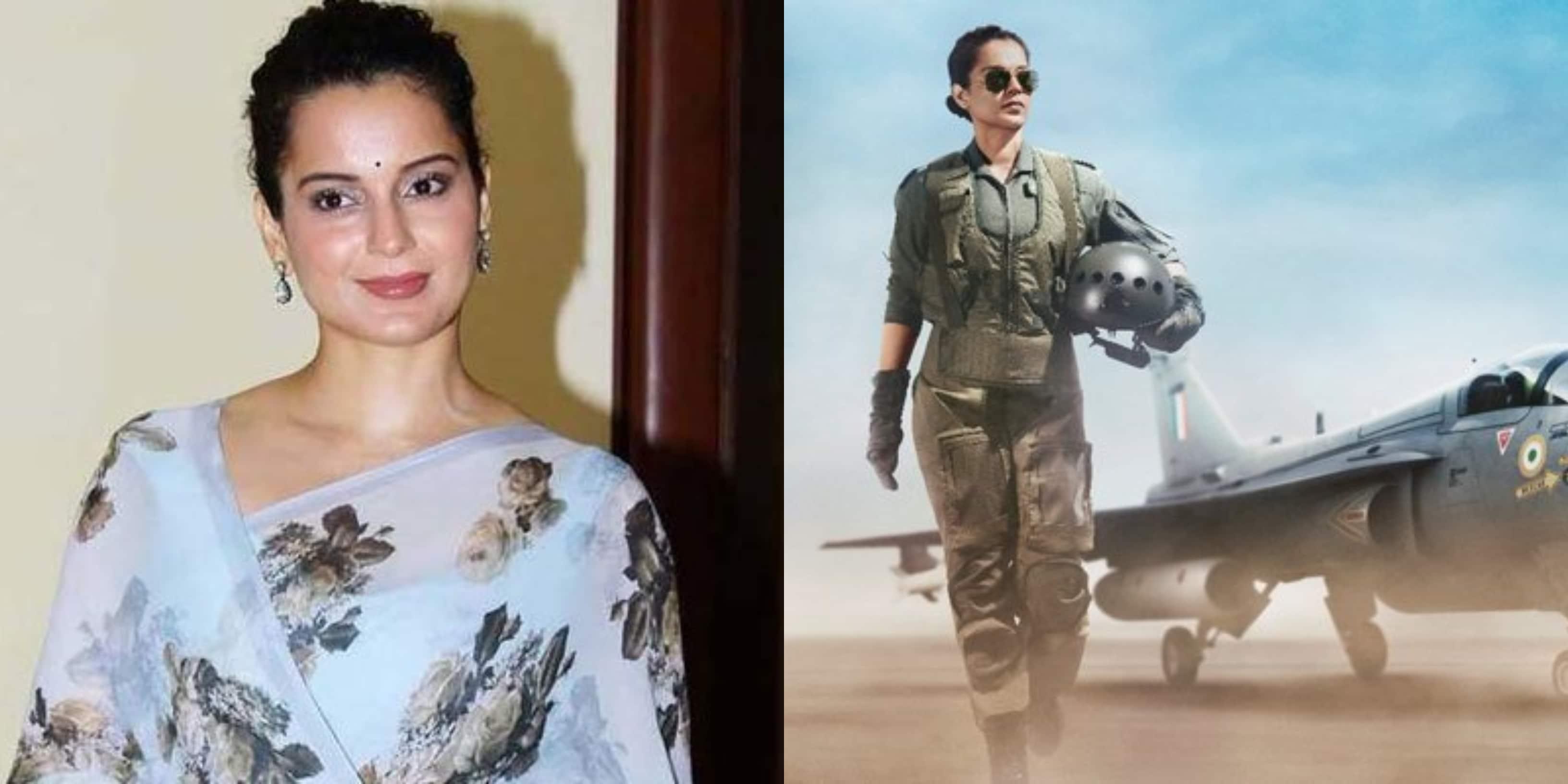 अभिनेत्री कंगना रनौत की फिल्म 'Tejas' का पोस्टर रिलीज, इस अंदाज में नजर आएंगी कंगना