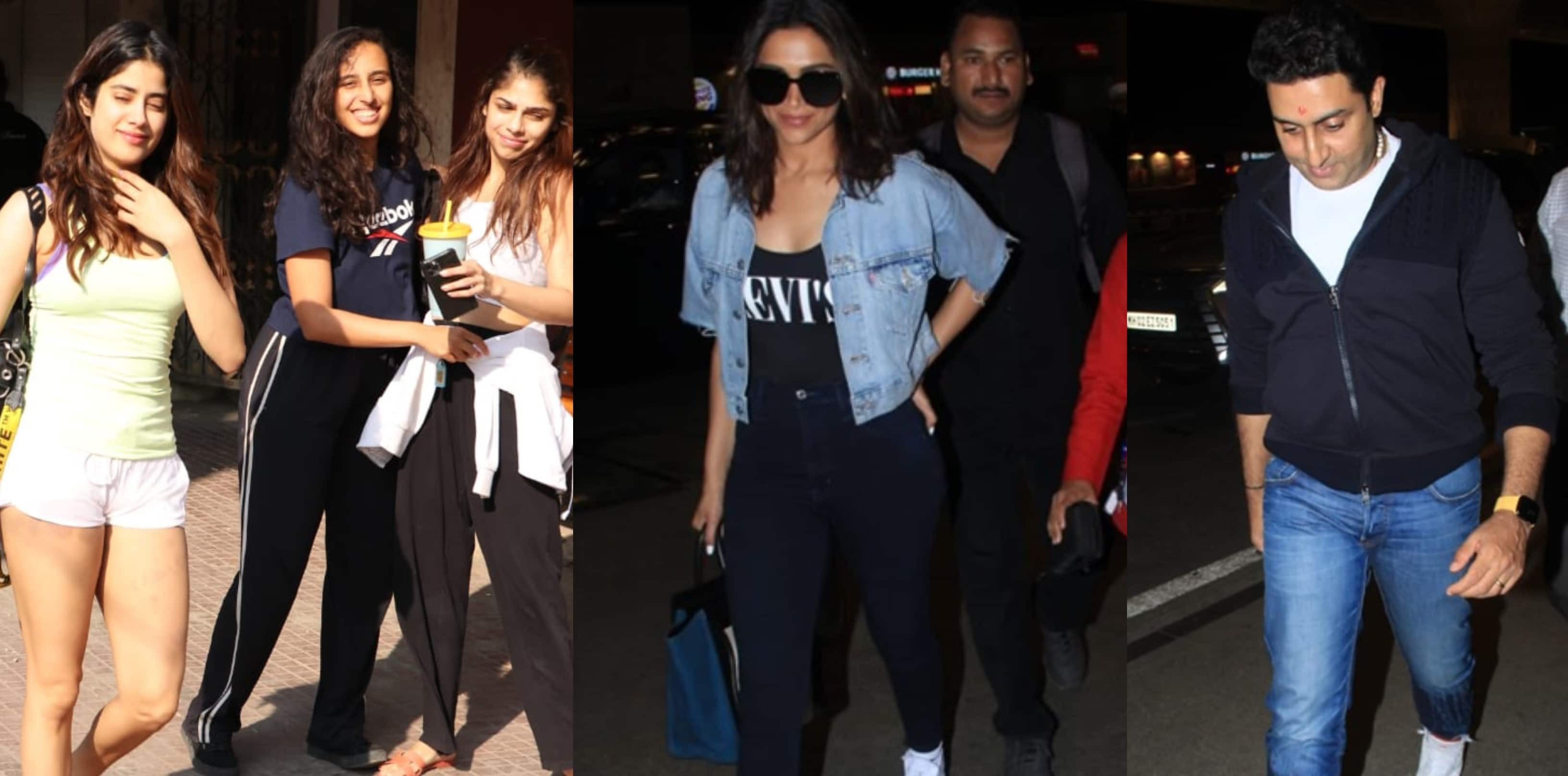 Spotted: Janhvi Kapoor Look Gorgeous Even Outside The Gym, Deepika And Abhishek Bachchan Seen At The Airport