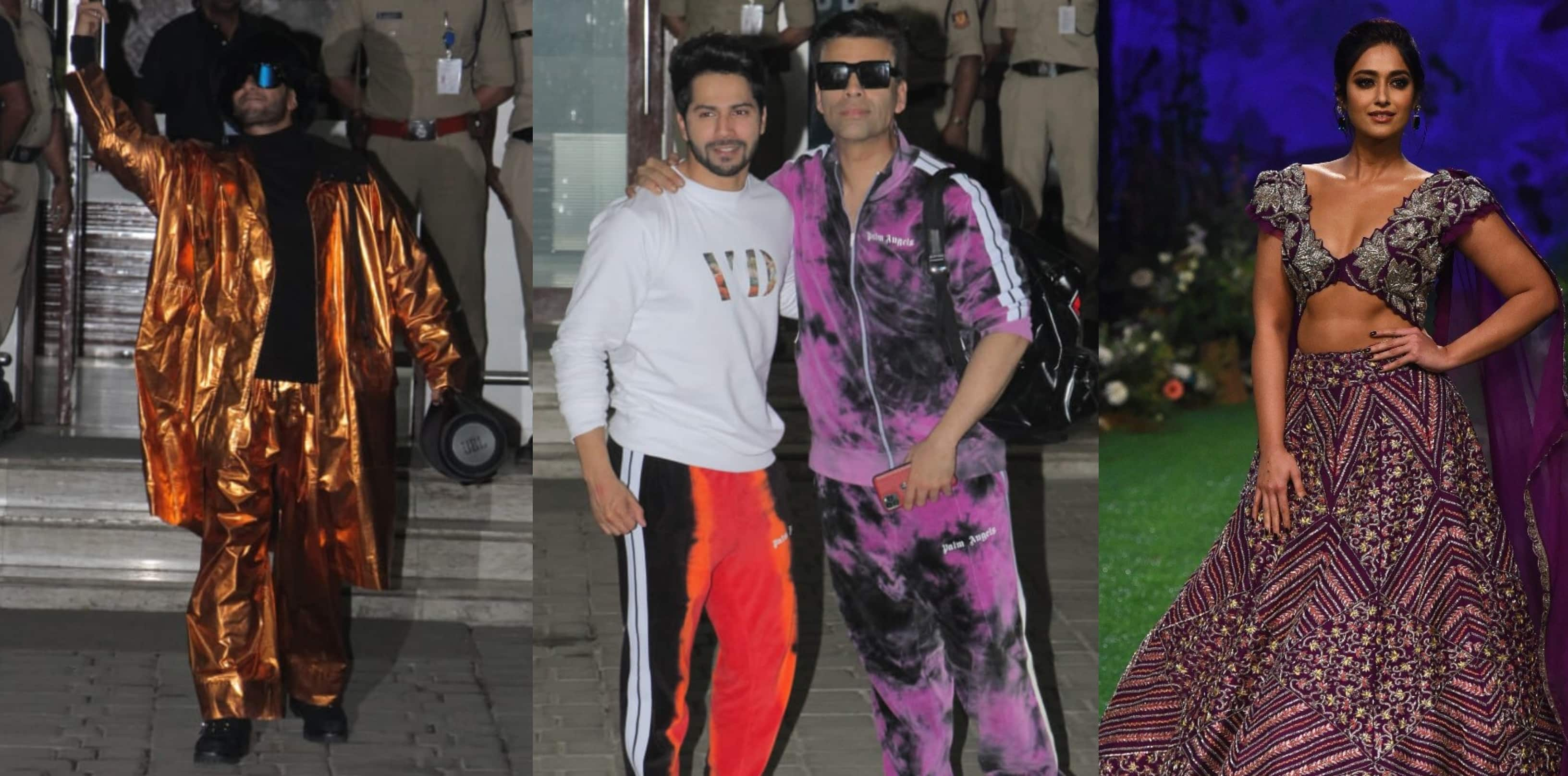 Spotted: Ranveer, KJo And Others Return Back From Filmfare Awards, Ileana, Tahira Dazzle At Lakme Fashion Week