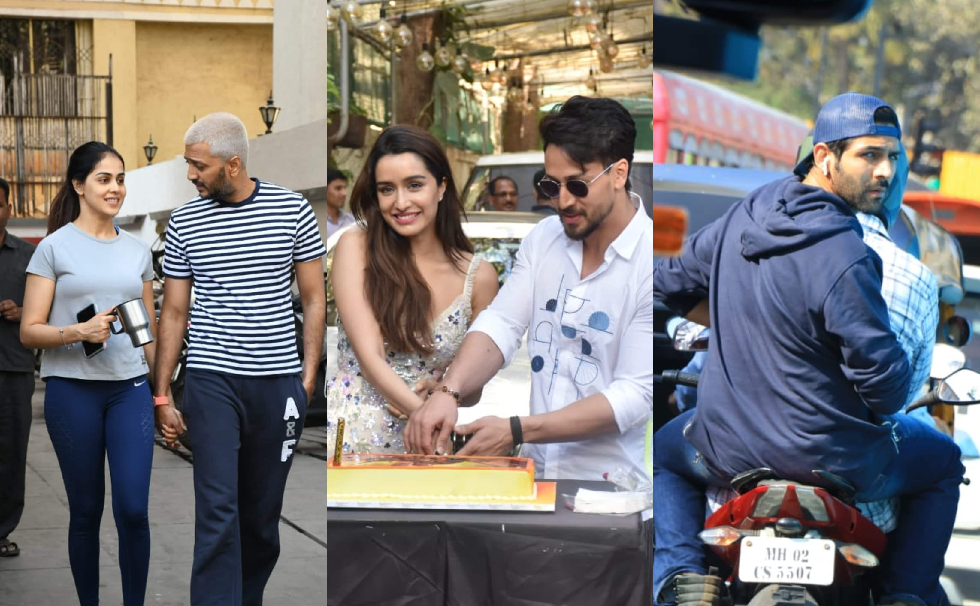 Spotted: Shraddha Celebrates Birthday With Baaghi 3 Co-Star Tiger; Kartik Aaryan Enjoys A Bike Ride