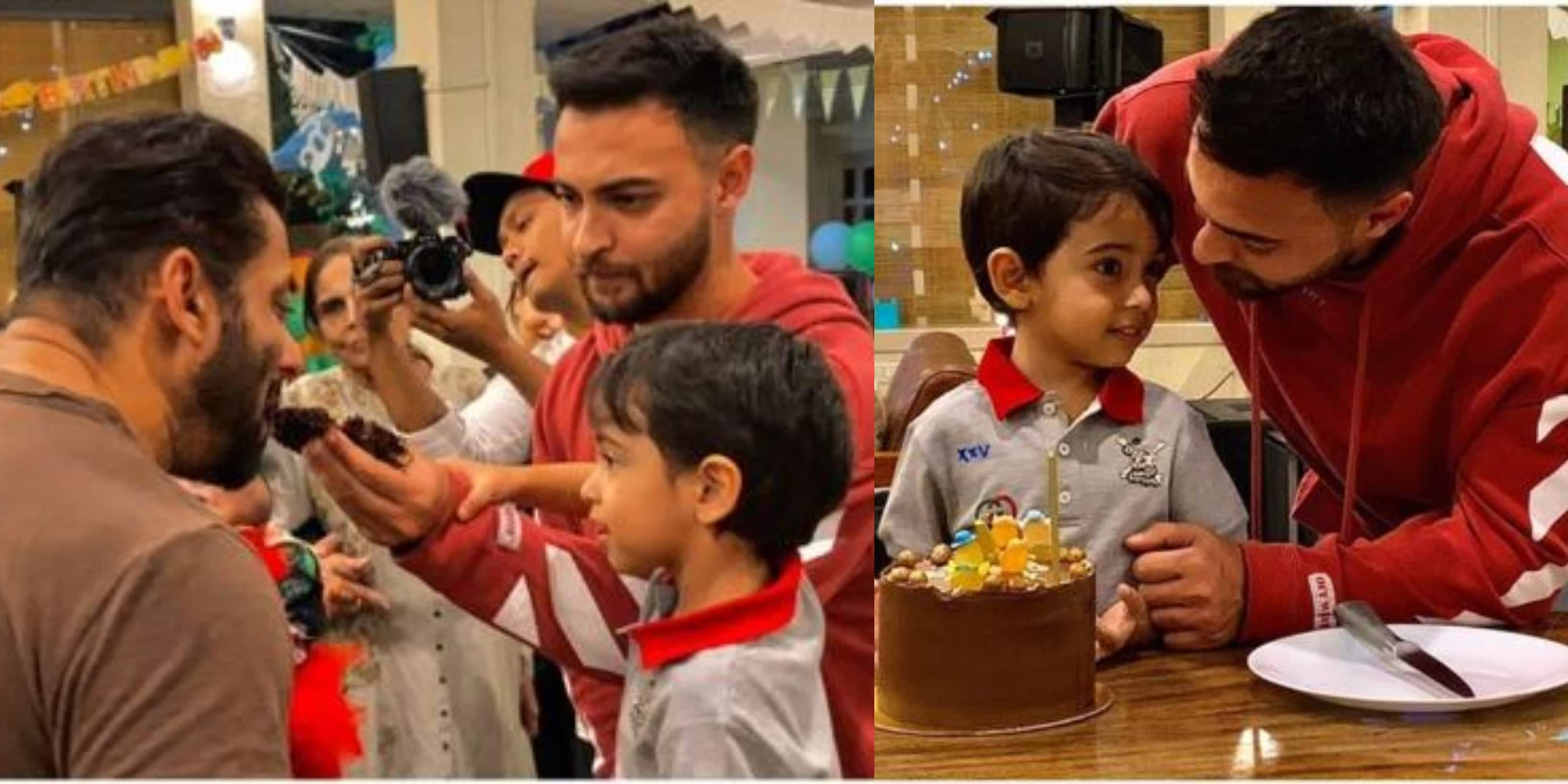 Ahil Sharma Feeds Mamu Salman Khan Cake On 4th Birthday, Aayush Sharma Shares Pictures