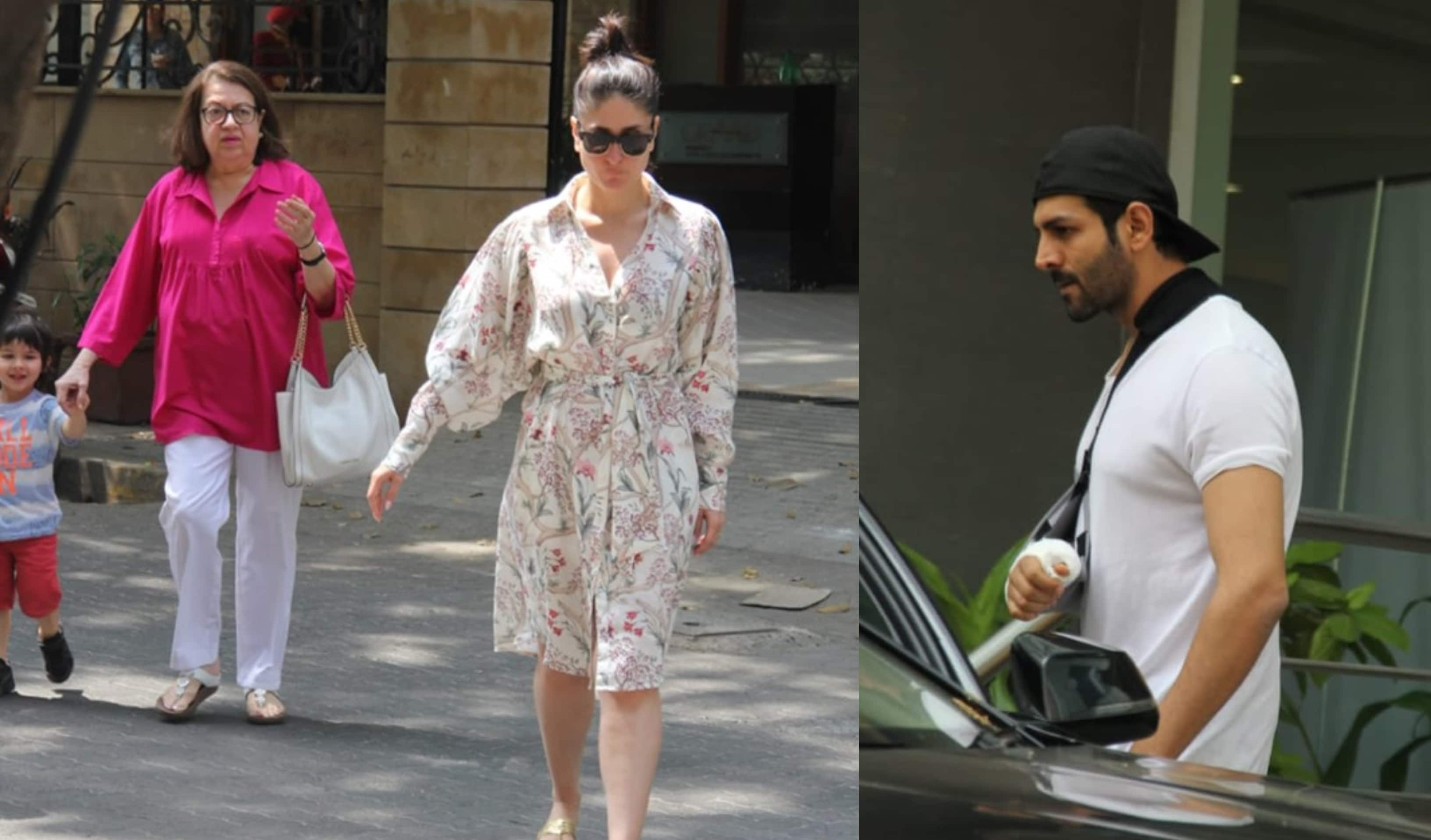 Spotted: Kartik Aaryan Attends IIFA Event Post Surgery, Kareena Kapoor Steps Out With Taimur And Mom Babita