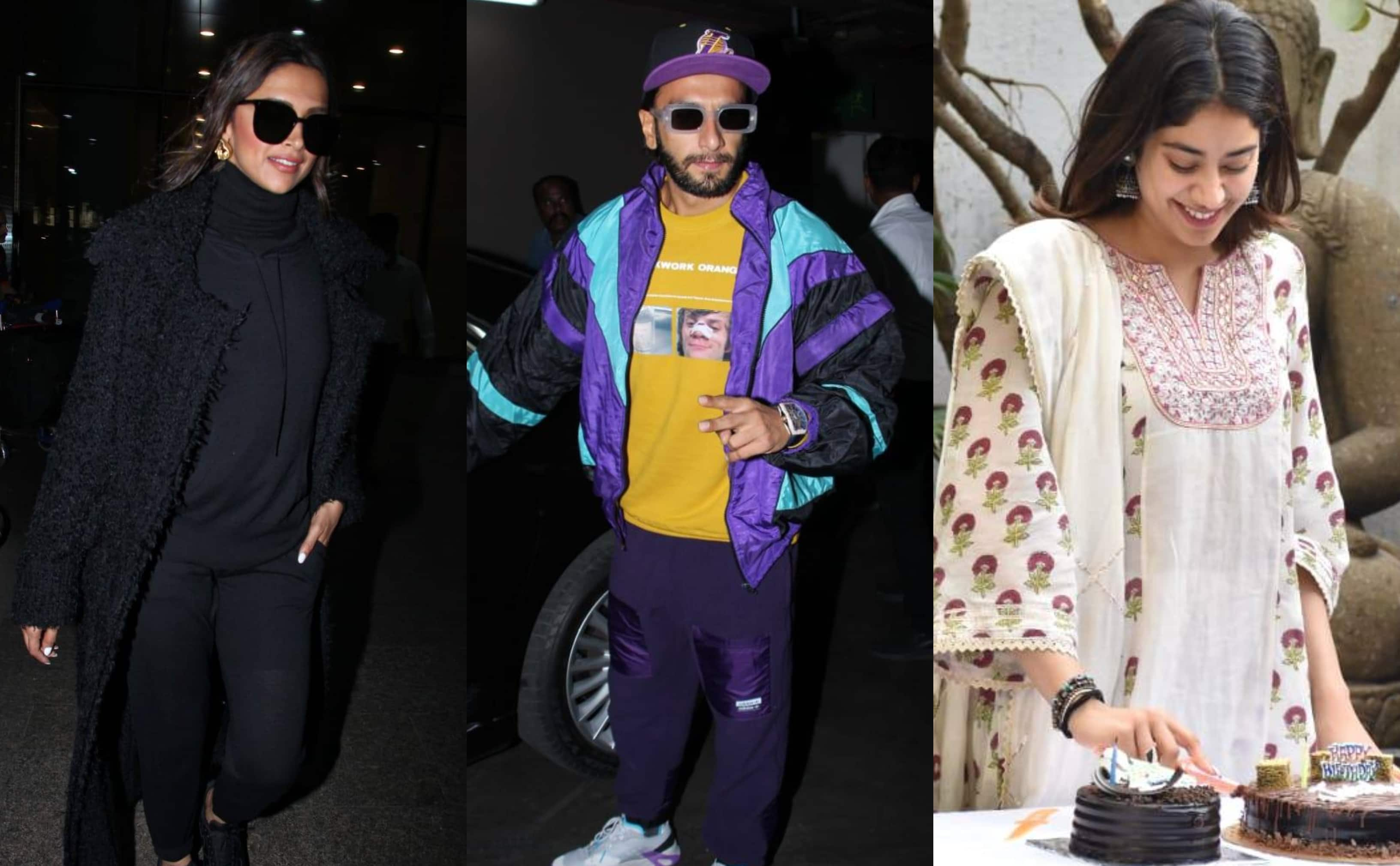 Spotted: Janhvi Kapoor Celebrates Birthday With Paparazzi; Ranveer-Deepika Return From London