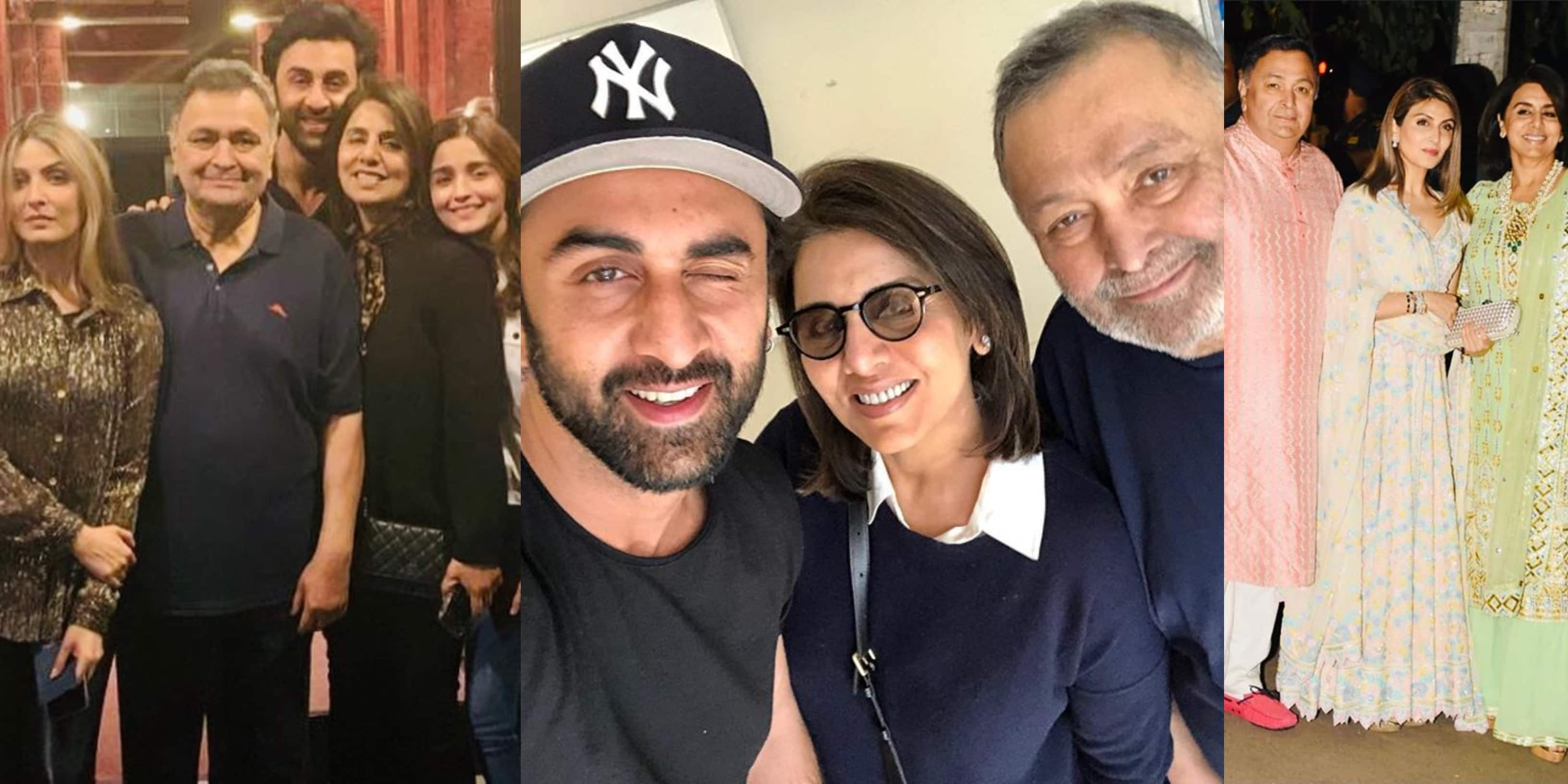 R.I.P Rishi Kapoor: Here Are Some Of His Pictures With Wife Neetu, Son Ranbir And Family After His Cancer Diagnosis