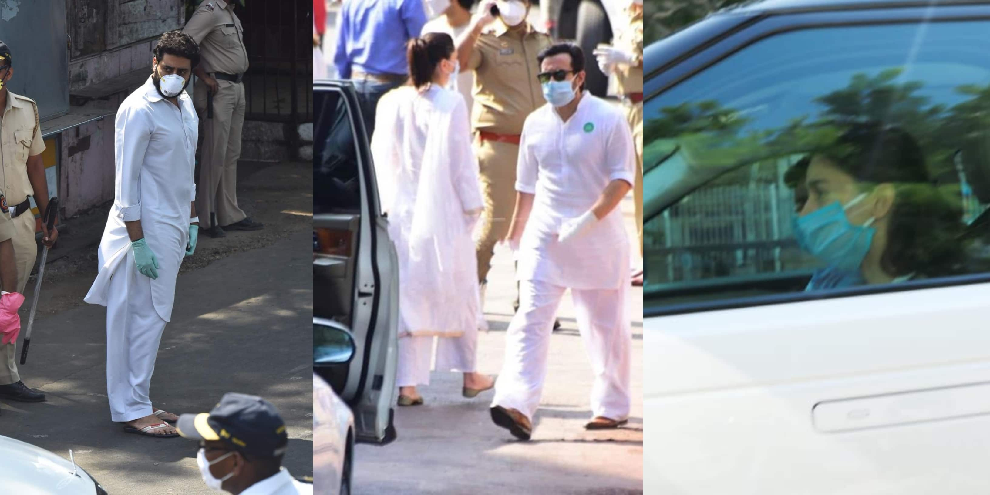Rishi Kapoor's Funeral: Abhishek Bachchan, Alia Bhatt, Saif-Kareena Join Family For Actor's Last Journey