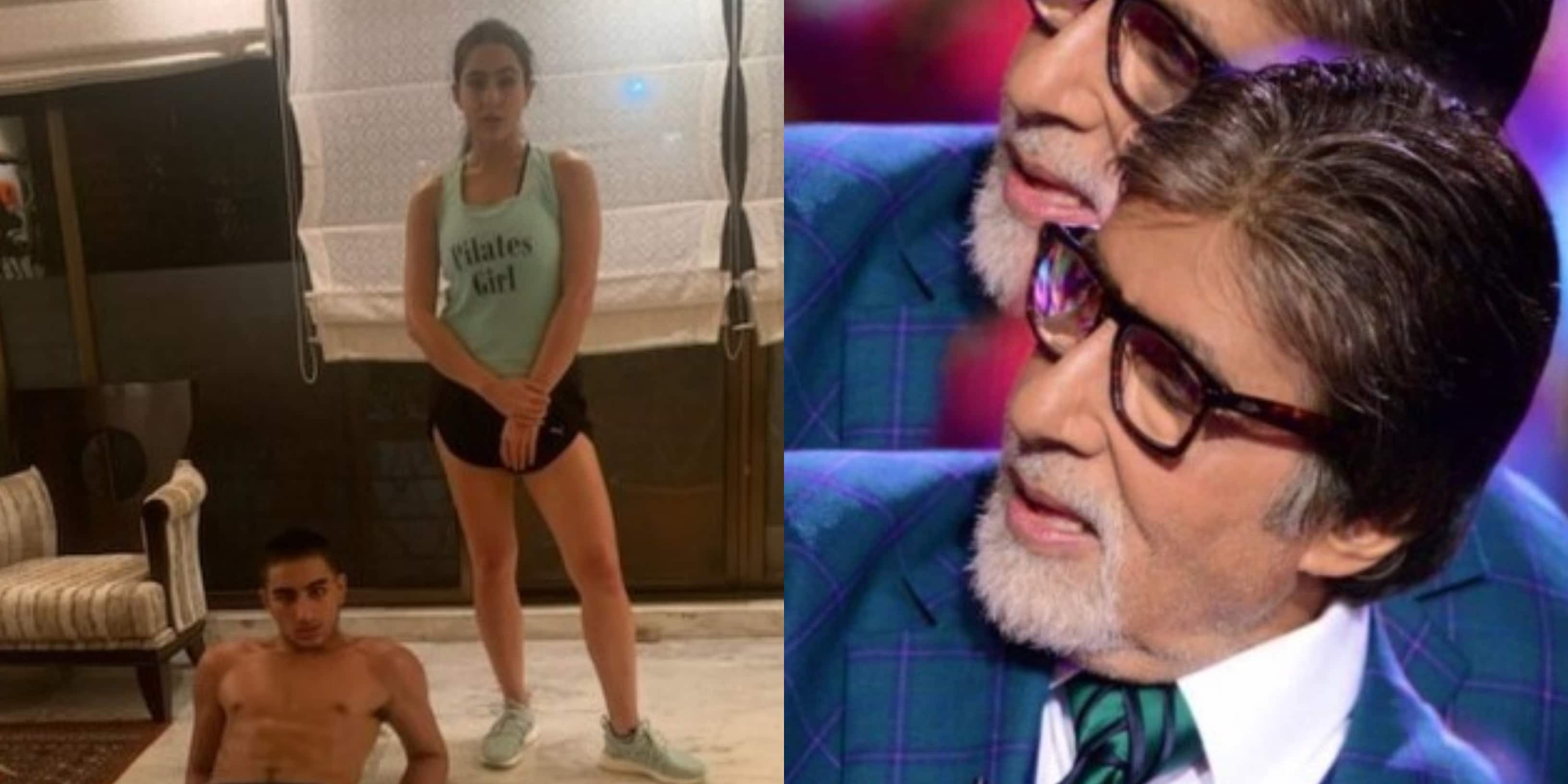 Sara Is Joined By Ibrahim And Fuffy Singh During Workout Amitabh Bachchan Reveals A Bat Entered His Room Desimartini