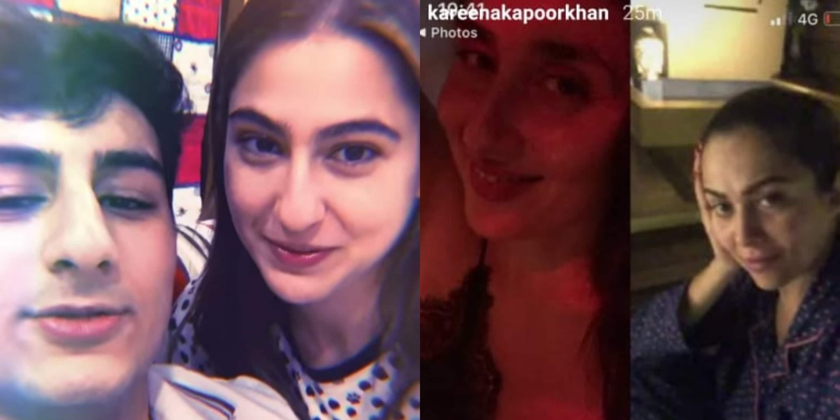 Sara Ali Khan And Ibrahim Tickle Our Funny Bone Kareena Kapoor Catches Up With Girl Gang On Video Conference Desimartini