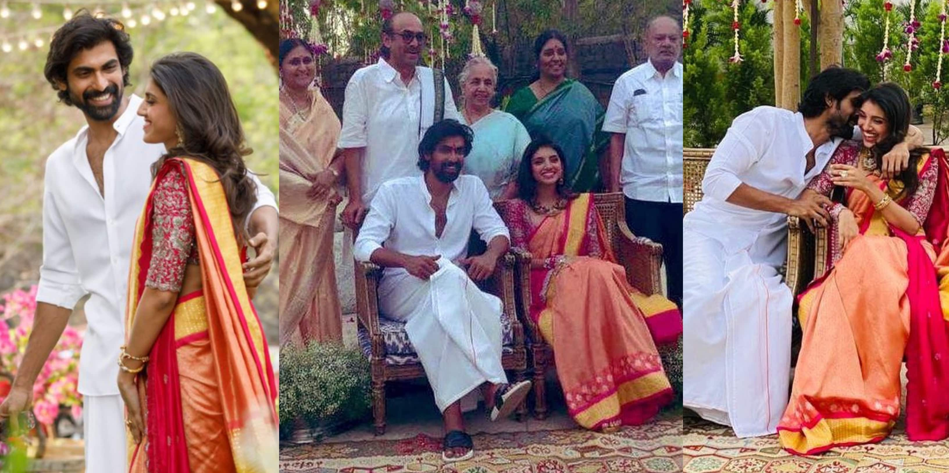 Rana Daggubati And Miheeka Bajaj's Roka Ceremony Is Perfectly Dreamy And These Pictures Are Proof