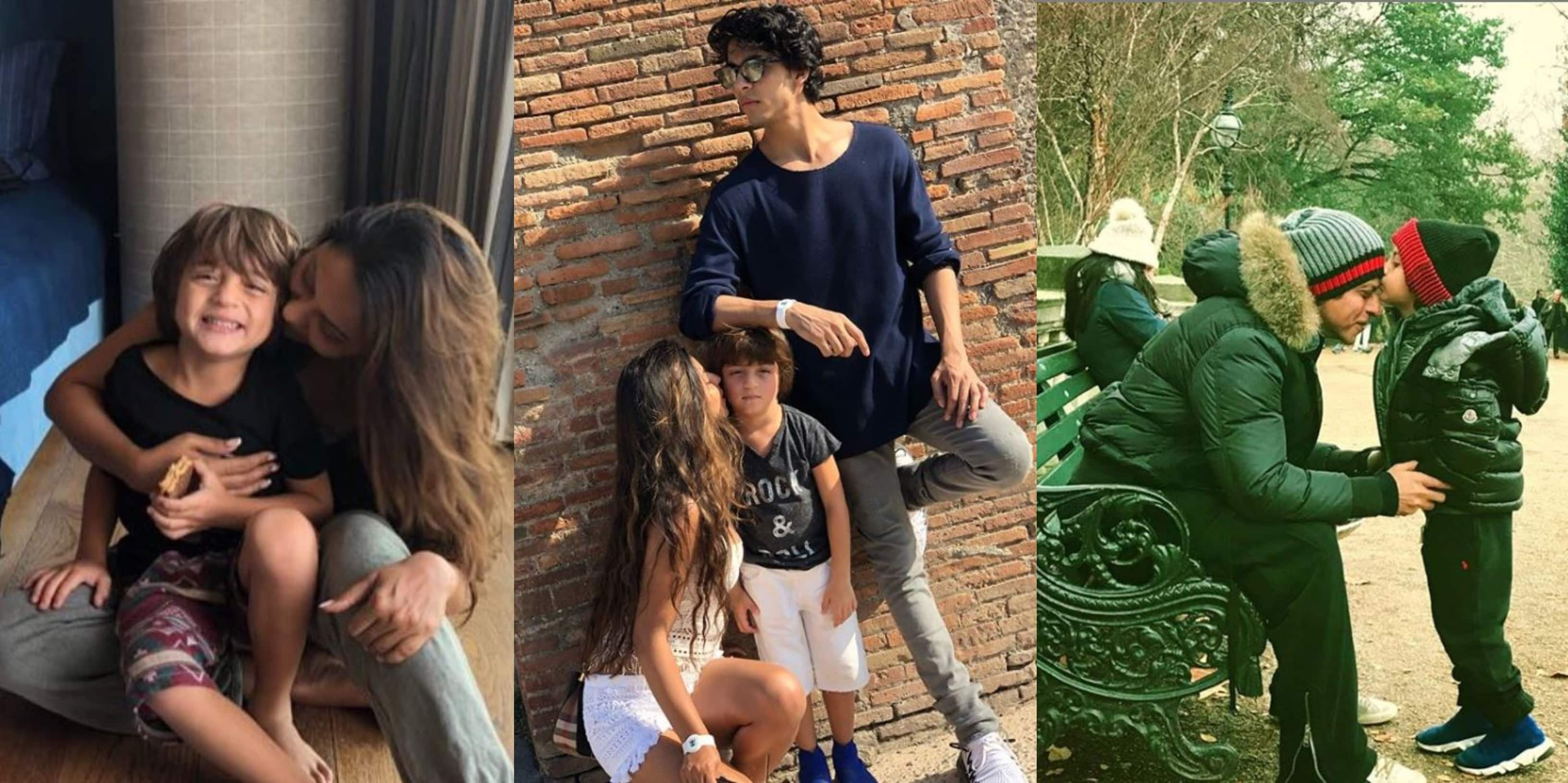 AbRam Khan Birthday: From Being Brother Aryan's Armrest To Kissing Dad Shah Rukh Khan On His Forehead, Here Are His 10 Best Pics