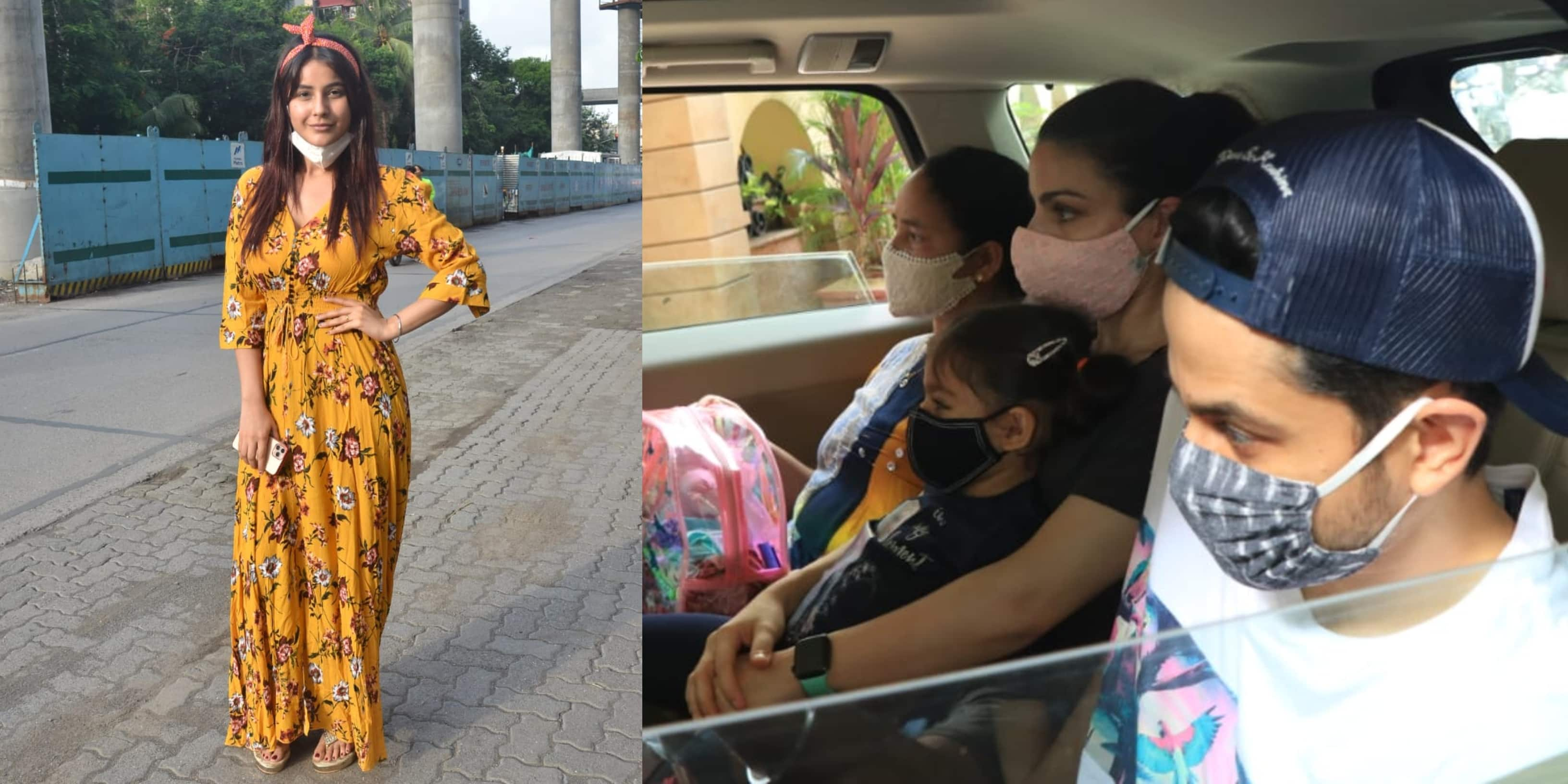 Spotted: Shehnaaz Gill Opens Her Mask To Pose For Paps, Soha-Kunal Arrive With Inaaya To Kareena's Residence