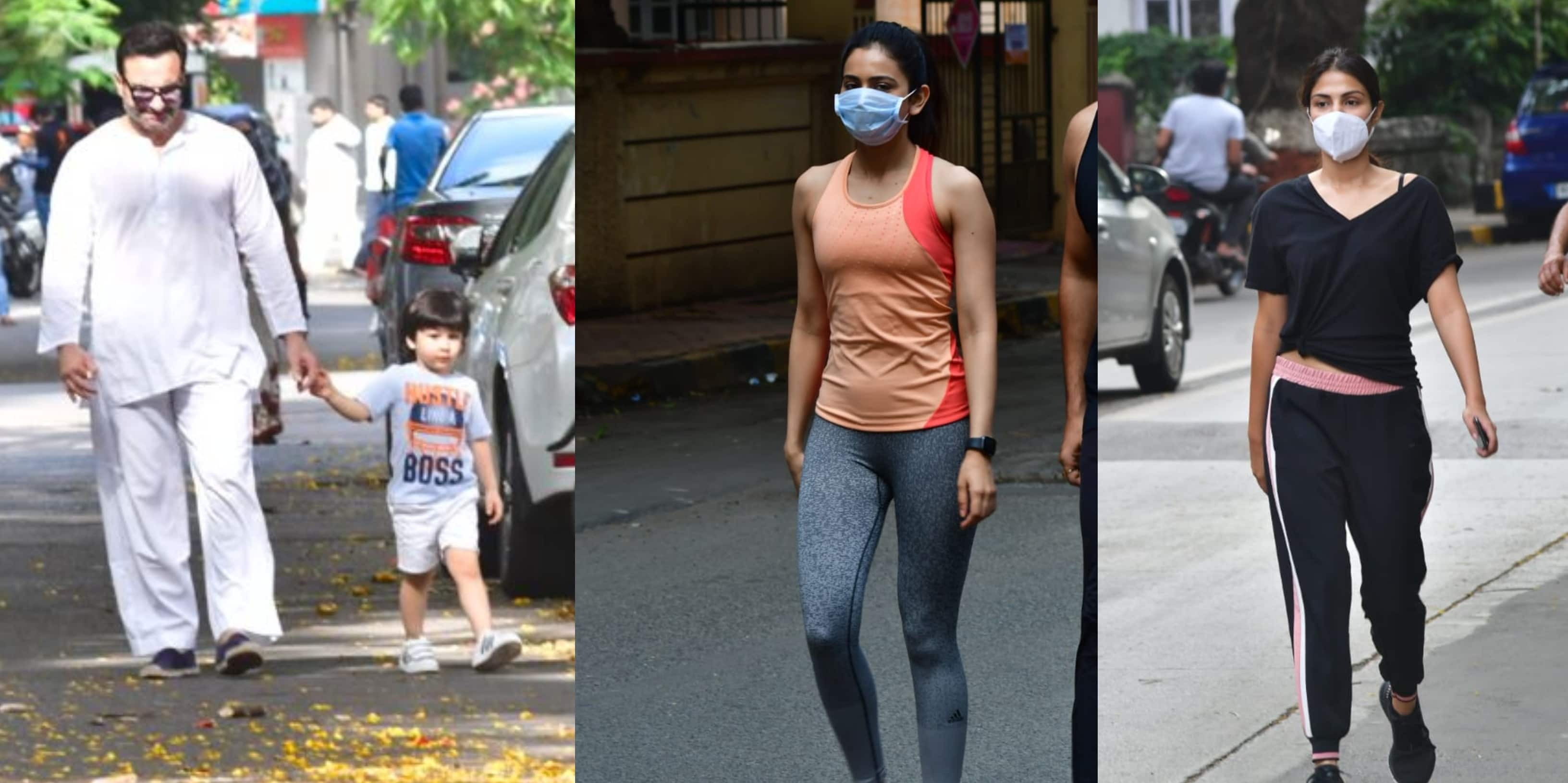 Spotted: Saif-Taimur Take A Walk, Rakul Preet Singh Goes Out As Lockdown Eases In Mumbai