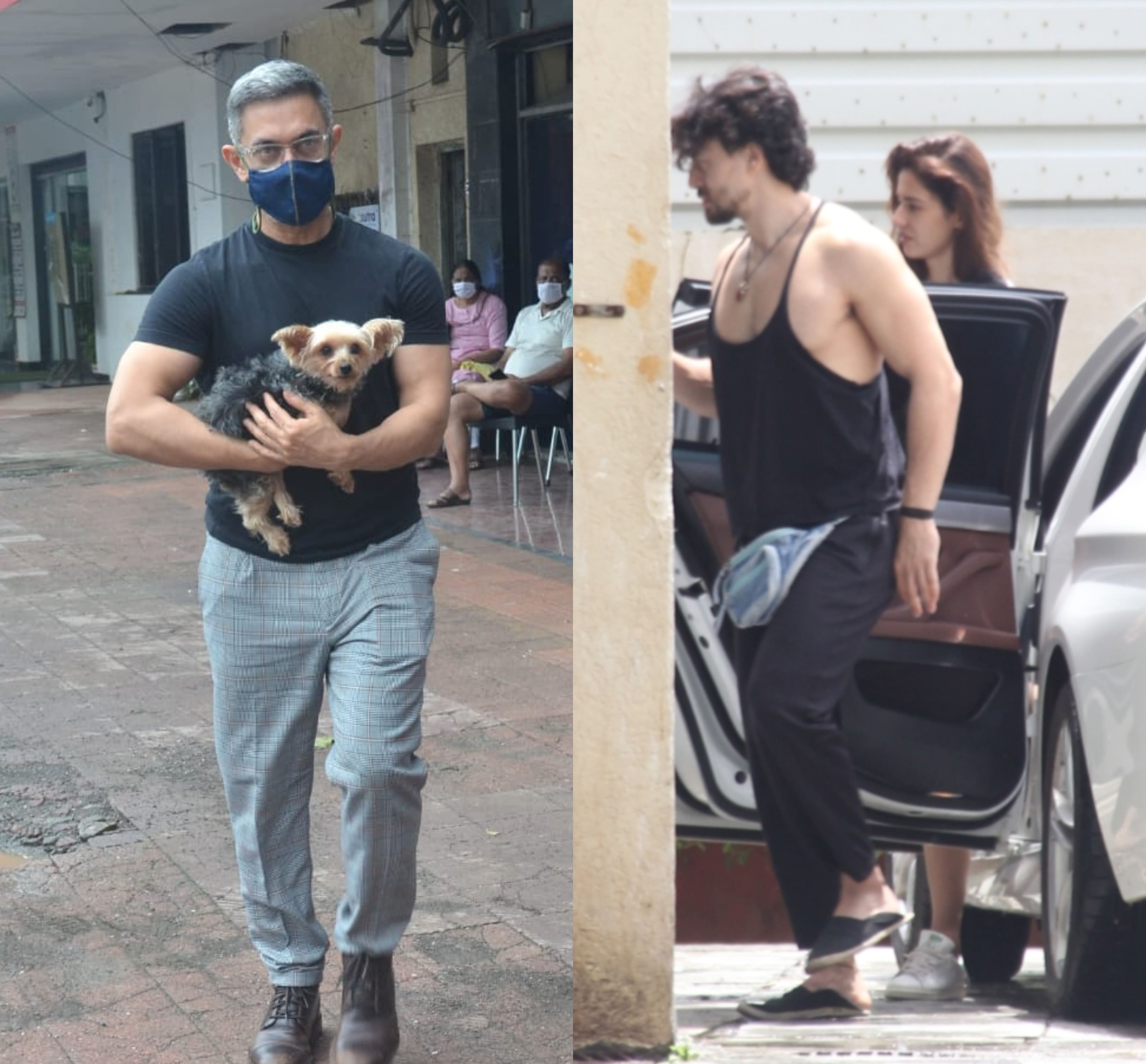 Spotted: Aamir Takes His Furry Friend To The Pet Clinic; Tiger And Disha Step Out In Style