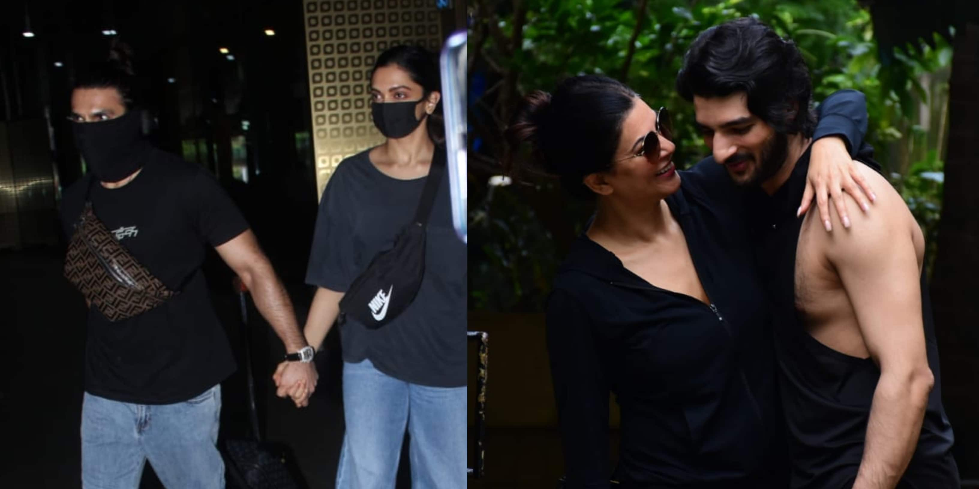 Spotted: Ranveer-Deepika Twin At The Airport; Sushmita Sen Snapped With Boyfriend Rohman
