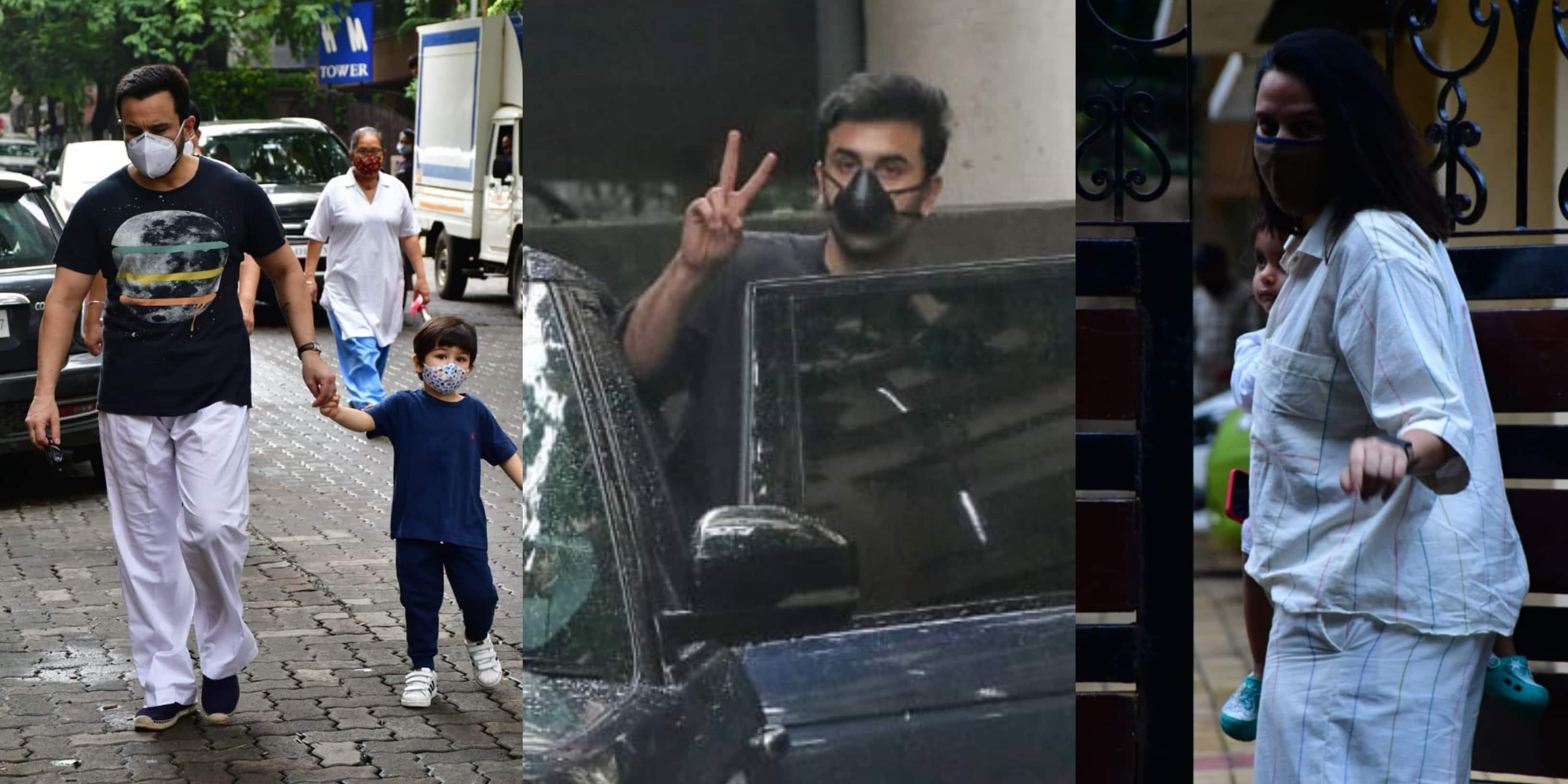 Spotted: Saif Ali Khan Seen With Taimur, Ranbir Kapoor Goes To Sanjay Leela Bhansali's Office
