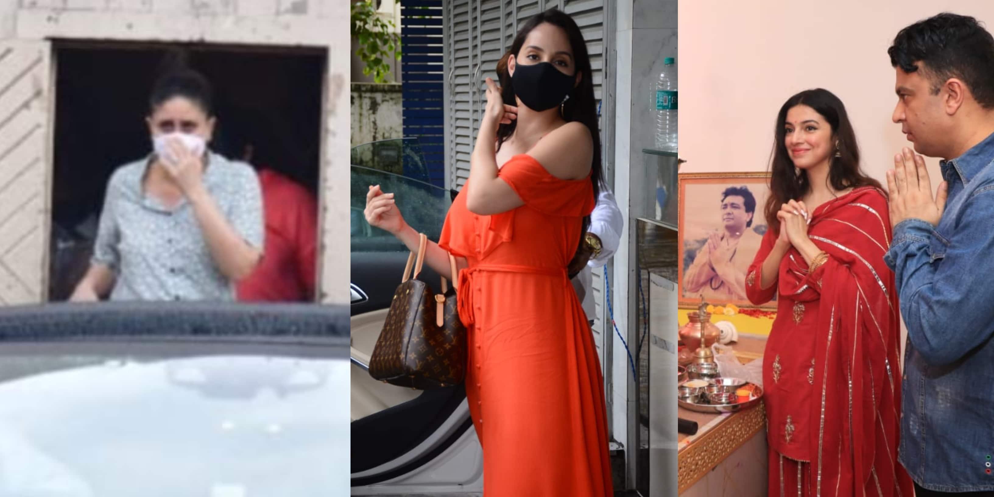 Spotted: Kareena Kapoor Khan Snapped At Mehboob Studio, Nora Fatehi Stuns In Orange