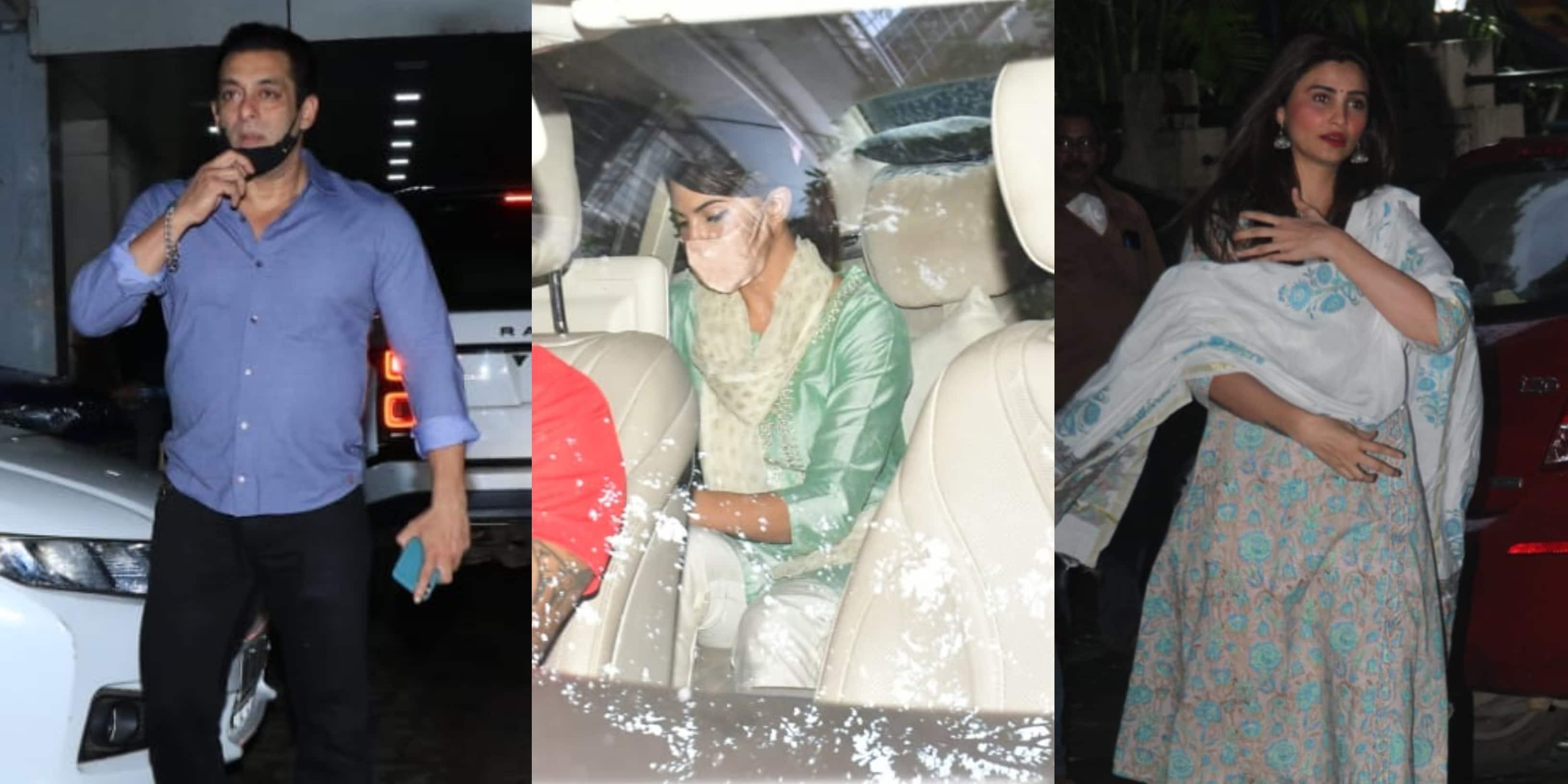 Spotted: Salman Khan, Jacqueline Fernandez, Daisy Shah Arrive For Ganesh Puja At Sohail Khan's House
