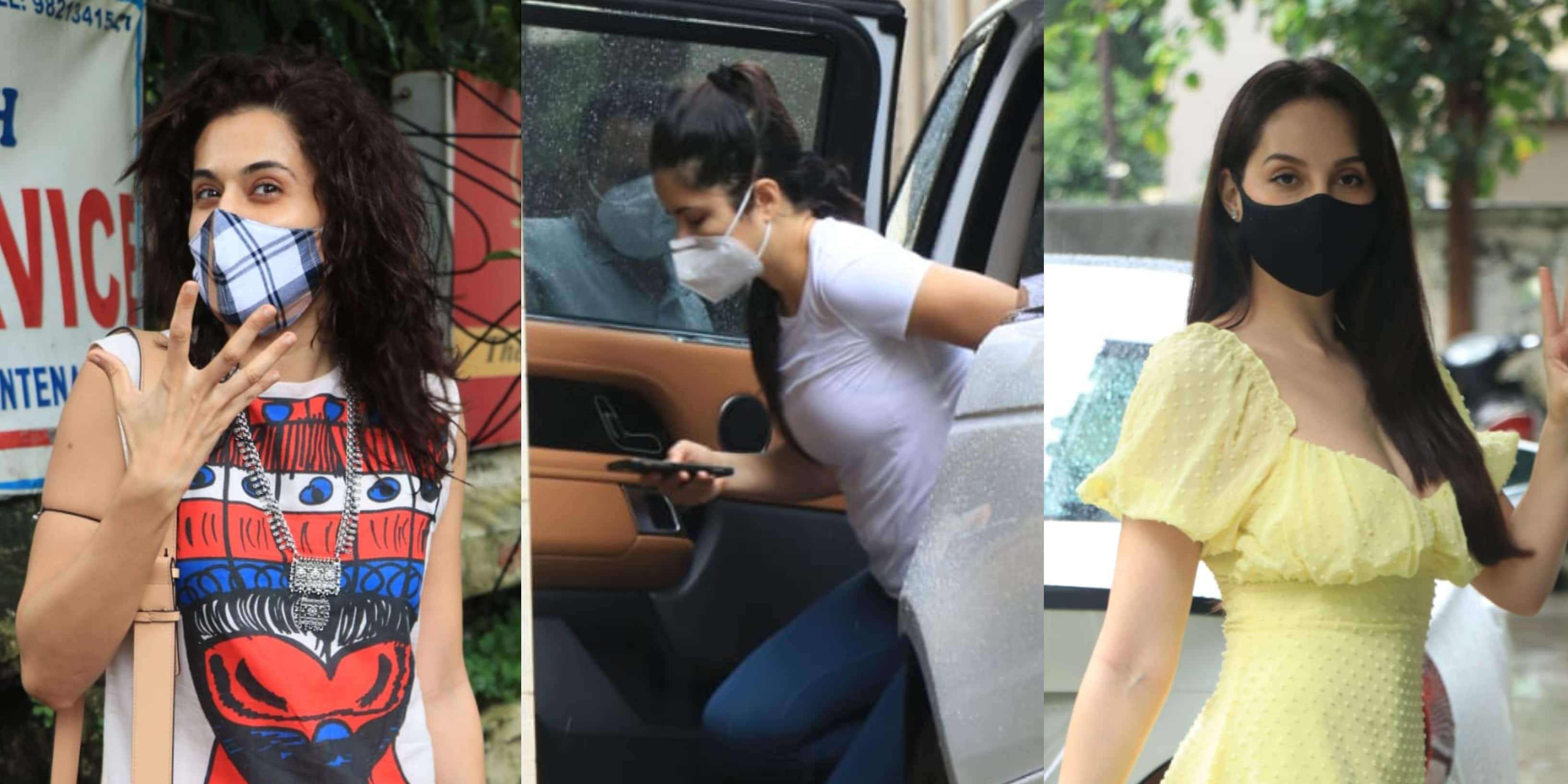 Spotted: Taapsee Pannu Spends 'Me-Time' At A Salon; Katrina Kaif, Nora Fatehi Snapped In Bandra