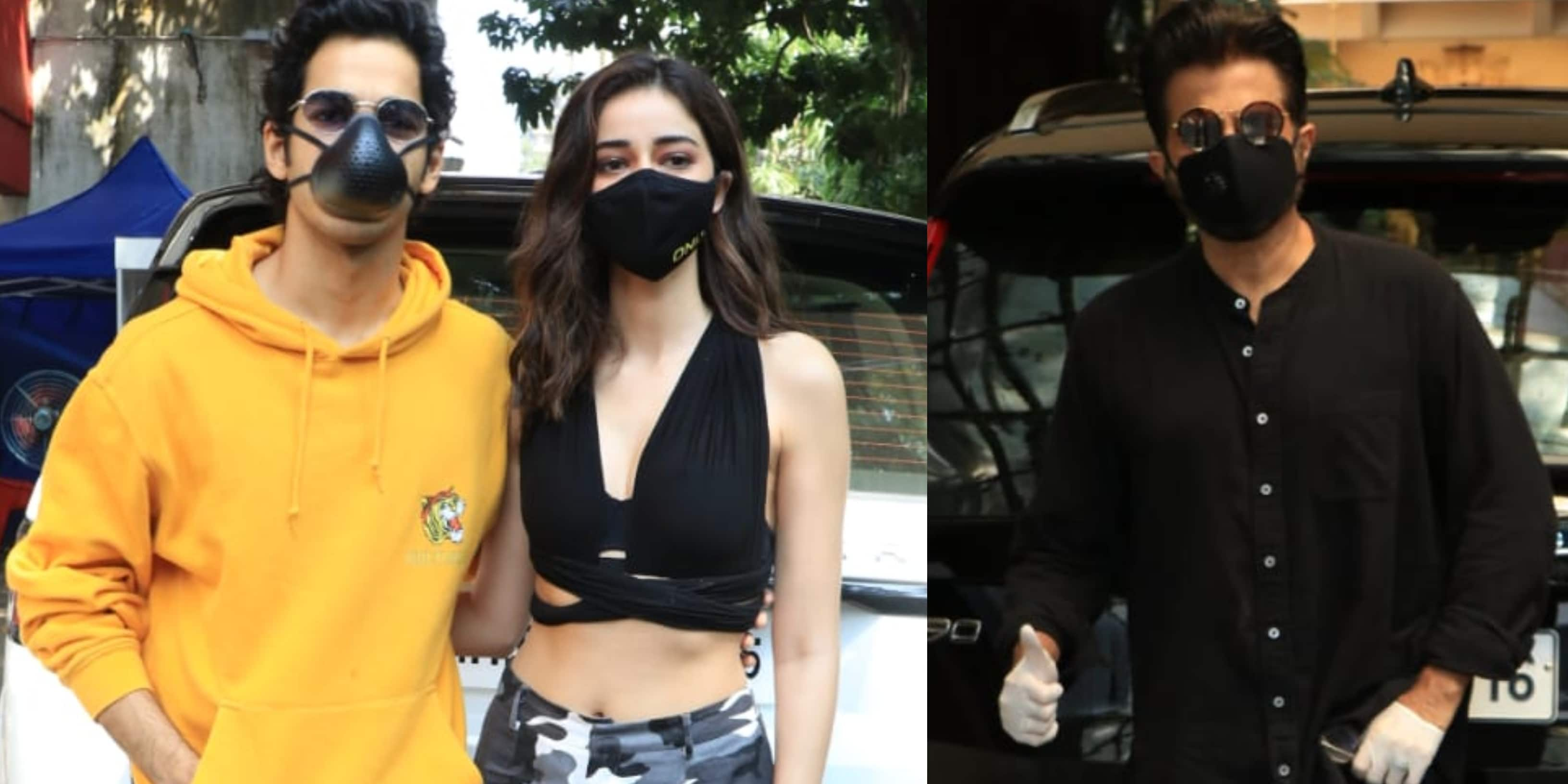 Spotted: Ananya And Ishaan Arrive At A Studio; Anil Kapoor Poses For The Paparazzi