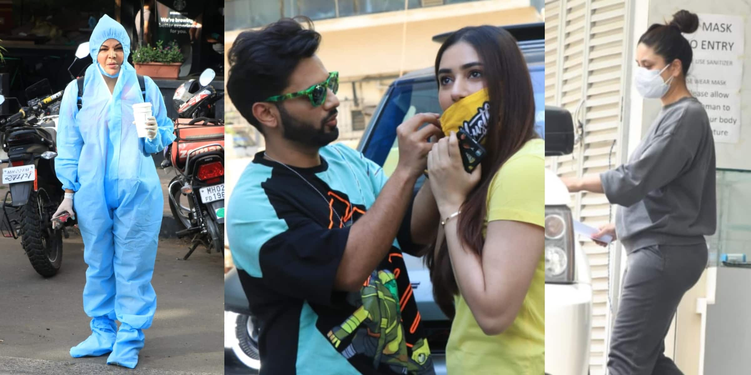 Spotted: Kareena Goes To A Clinic, Rahul Vaidya Helps Disha Take Off Her Mask, Rakhi Sawant Goes To Grab Coffee