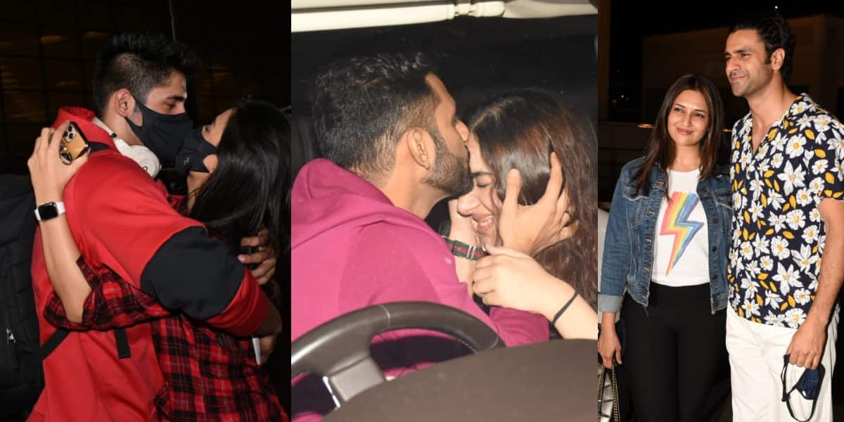 Khatron Ke Khiladi 11: Rahul Vaidya Kisses Disha Before Leaving, Contestants' Partners Come To See Them Off At The Airport