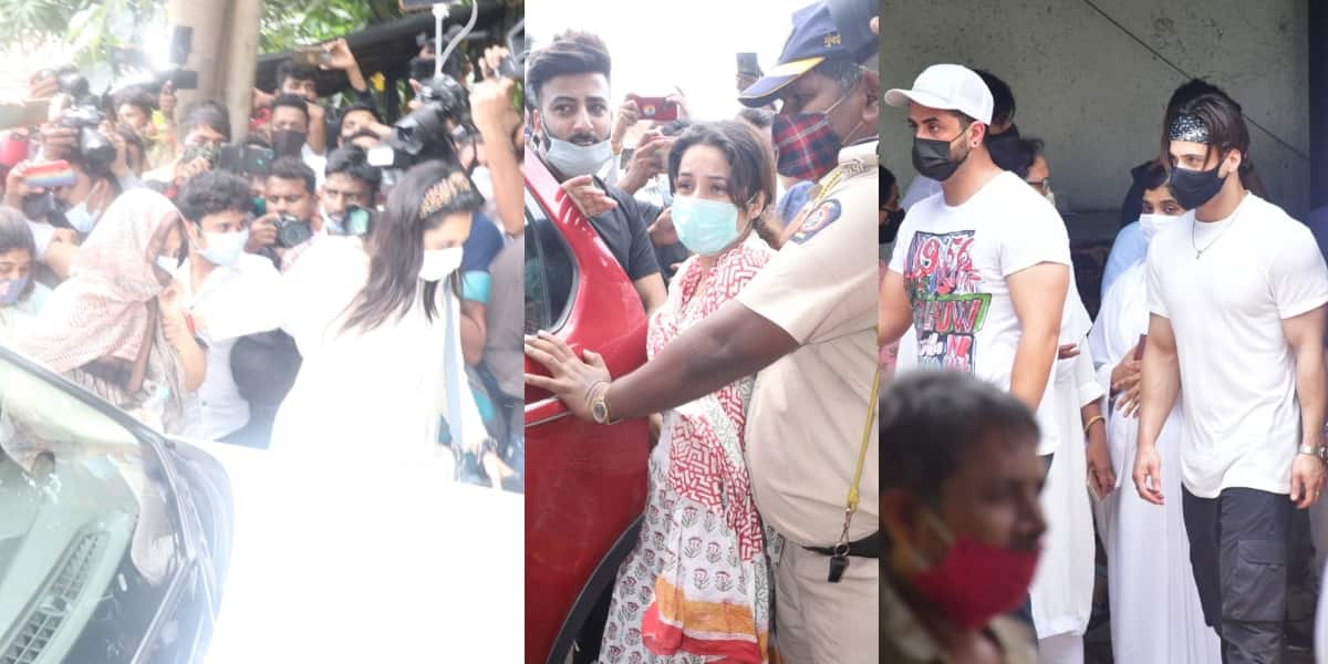 Sidharth Shukla's last rites: Shehnaaz Gill looks devastated, actor's mother also reach; see pics