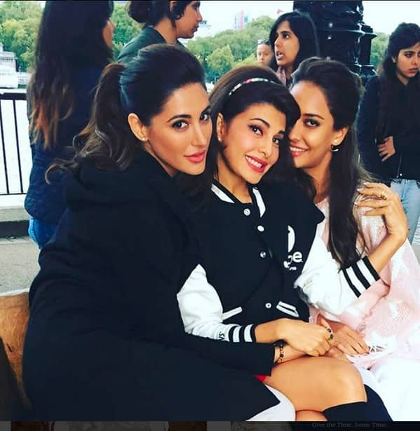 Jacqueline, Lisa And Nargis On The Sets Of Housefull 3