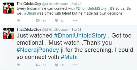 Here's How Twitterati Reacts To M.S.Dhoni: The Untold Story!