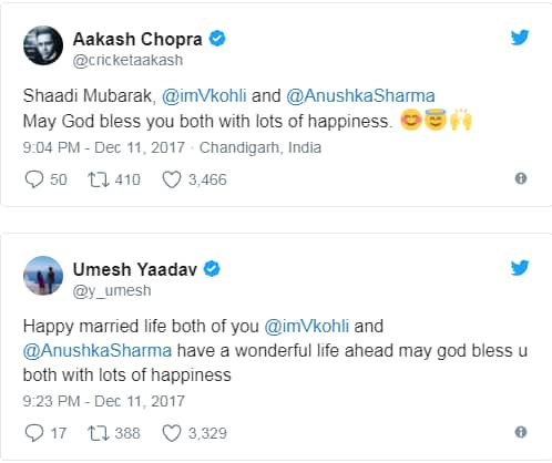 Virushka Wedding: Bollywood Celebs And Cricketers Pour Wishes For The Newly Married Couple!