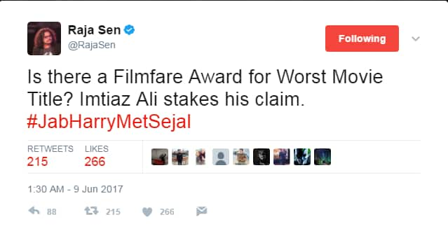 Twitter Wasn't Impressed By SRK-Anushka's Jab Harry Met Sejal's Title And Here Are Some Reactions