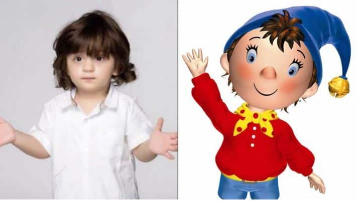 AbRam Khan - Come on, the resemblance is almost uncanny! Also their playful personalities are also quite similar to each other.
