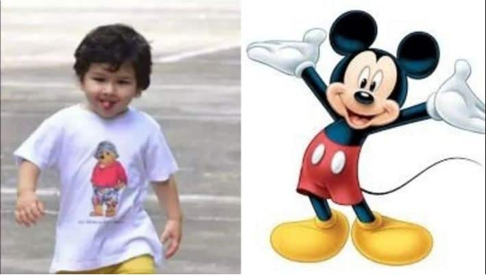 Taimur Ali Khan - Because only Mickey Mouse can match the cuteness and popularity of our chote nawab.