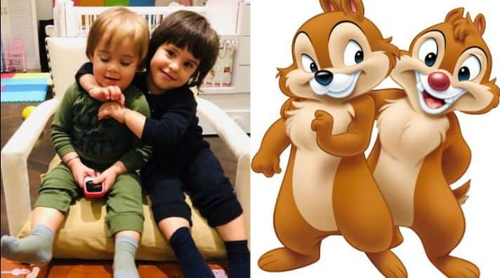 Yash and Roohi Johar - These twins remind us of Chip and Dale.