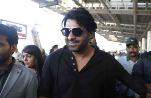 Baahubali Arrives - Prabhas looks positively cheerful upon his arrival