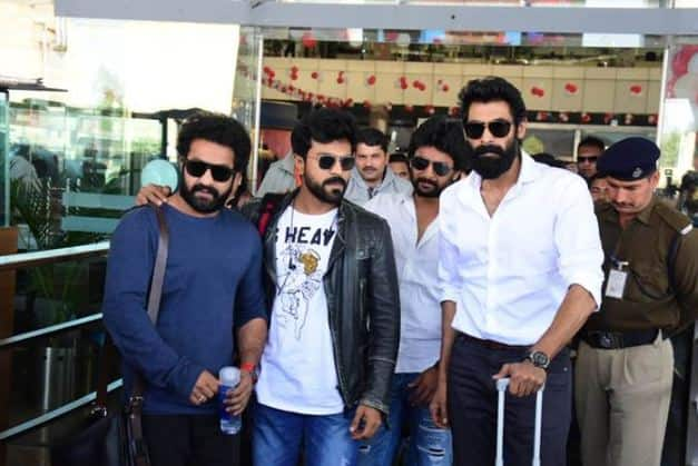 Too Much Star Power - With Jr. NTR, Ram Charan and Rana Dagubbati, this frame is overflowing with star power.