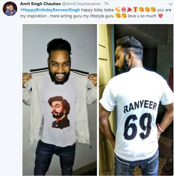 This fan literally wore his love for Ranveer on his sleeves! -